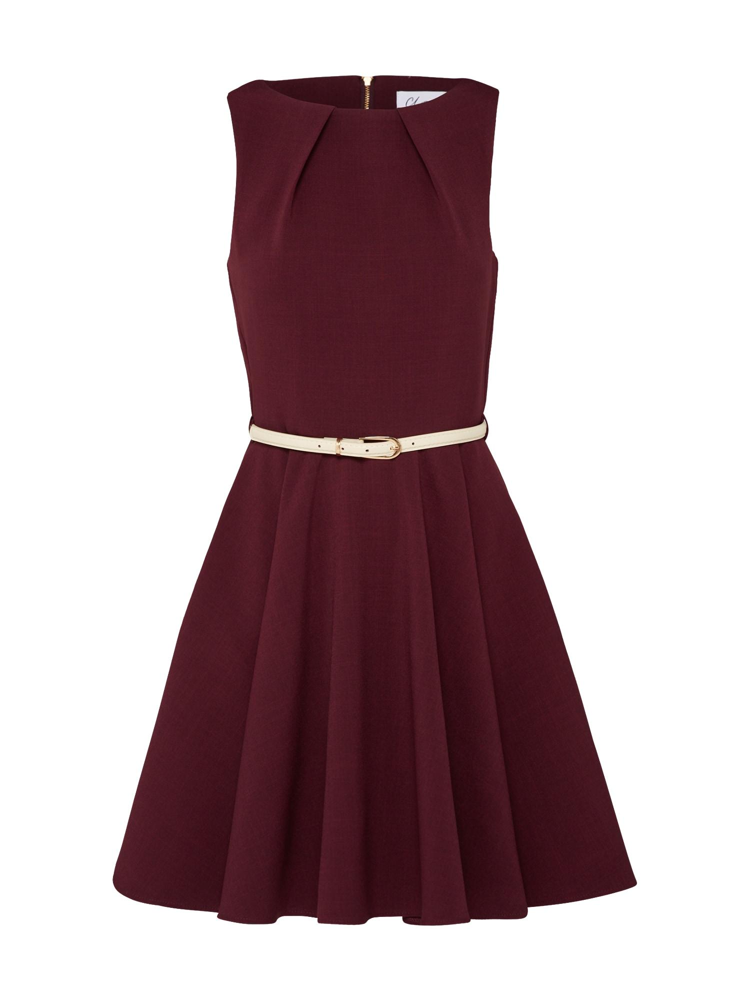 Closet London Kokteilinė suknelė kremo / vyno raudona spalva
