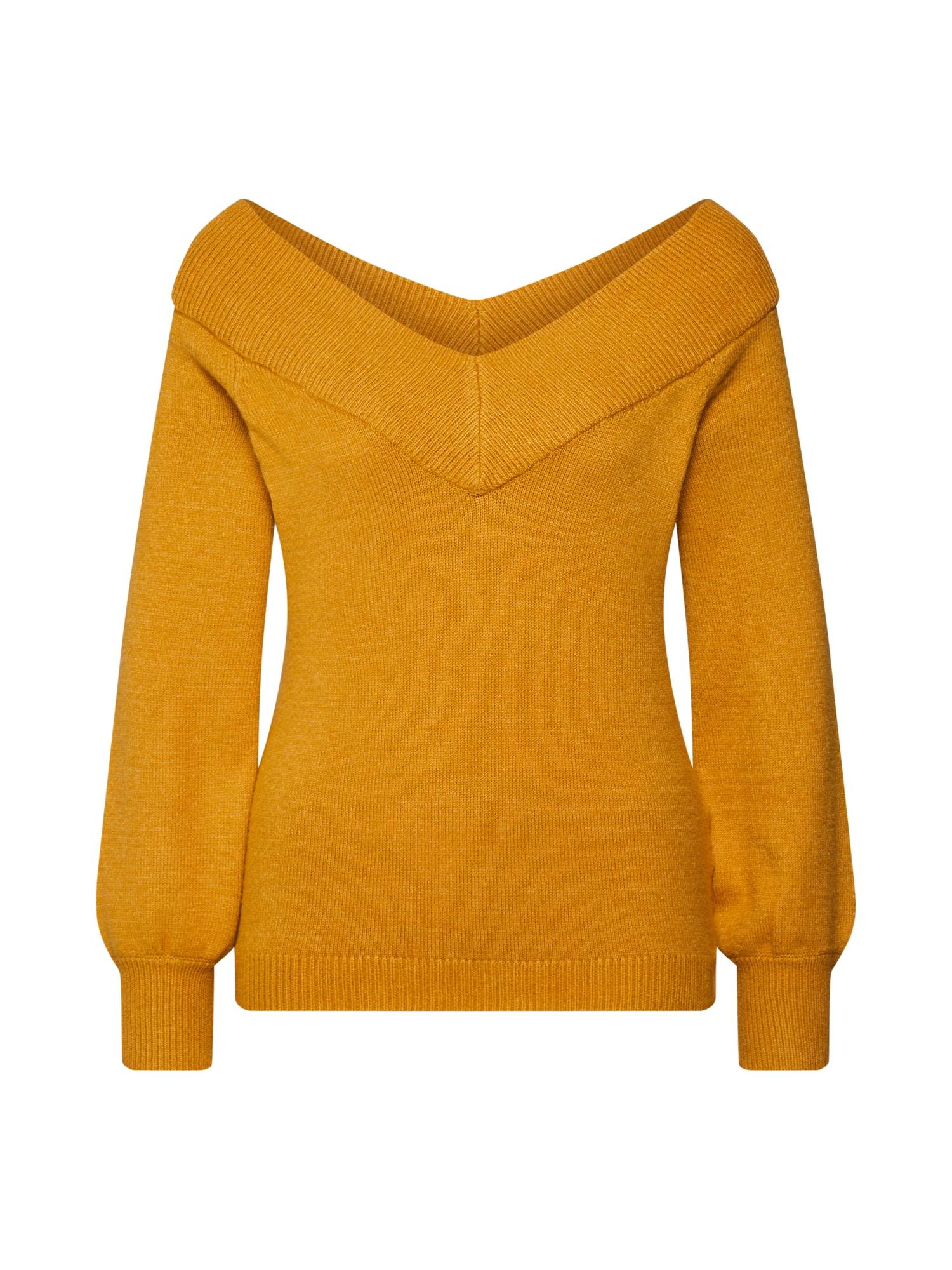 JACQUELINE de YONG Megztinis 'Shanon' aukso geltonumo spalva