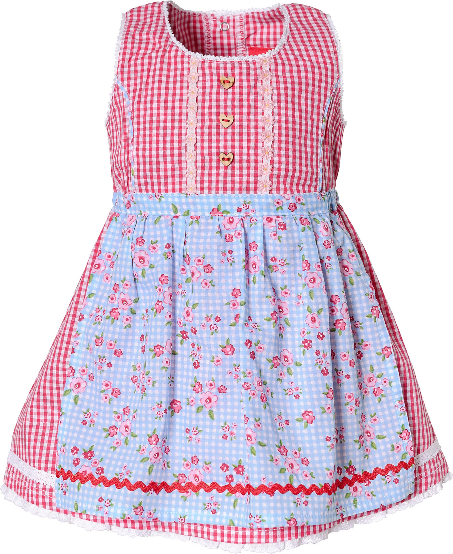 Kinder,  Mädchen,  Kinder BONDI Dirndl blau,  pink,  rot,  weiß | 04042034515590