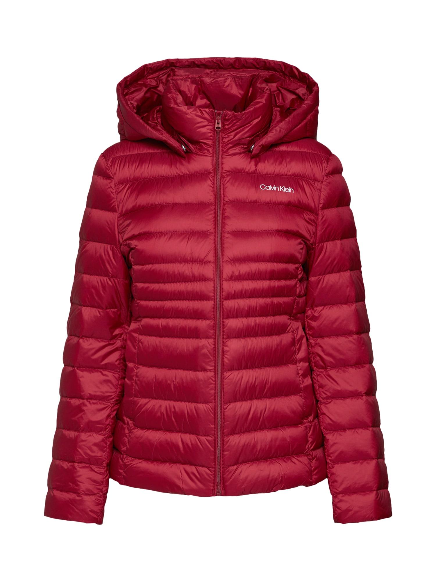 Zimní bunda ESSENTIAL LIGHT burgundská červeň Calvin Klein