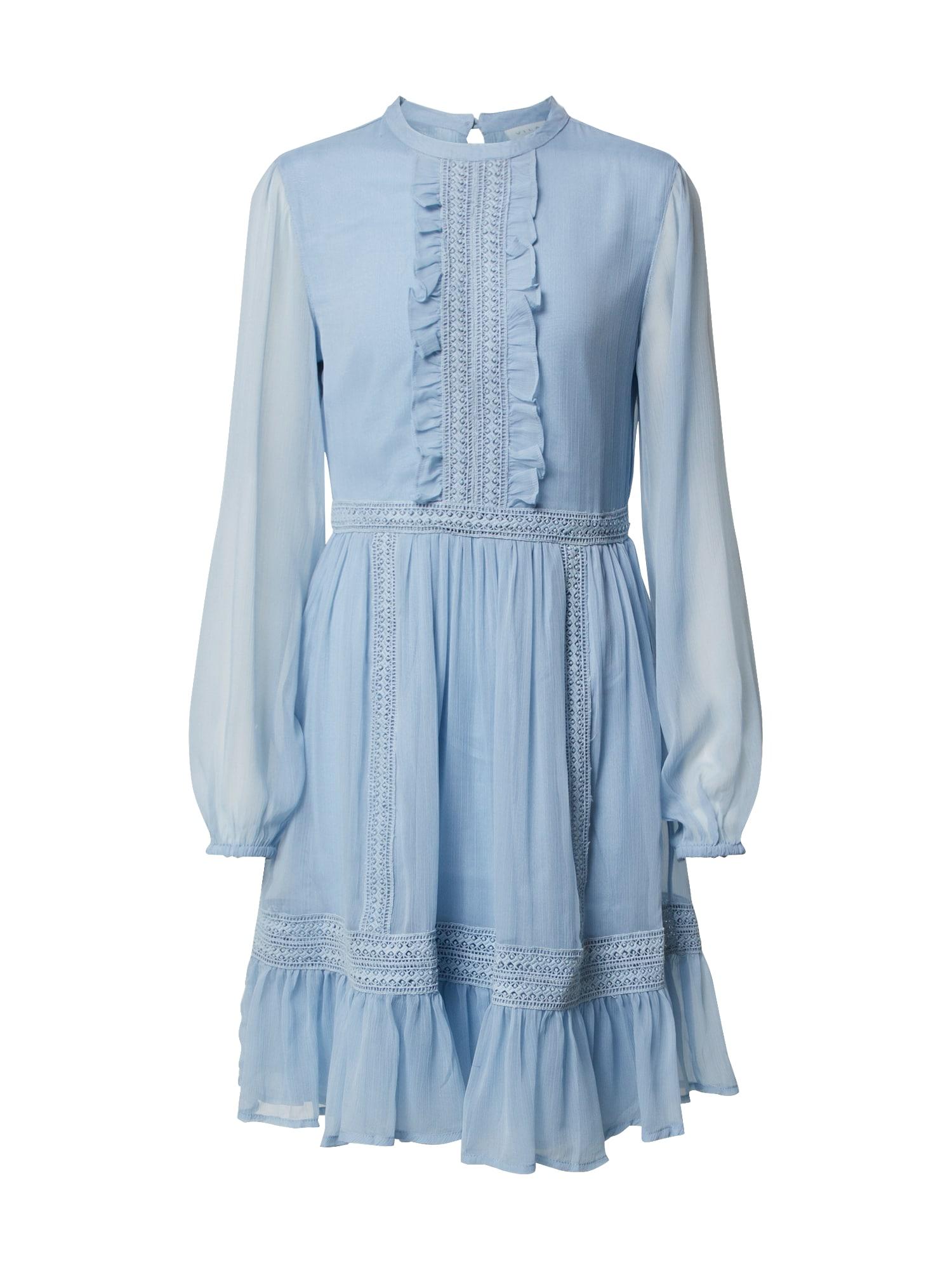 VILA Suknelė 'VIHALDI L/S DRESS' šviesiai mėlyna