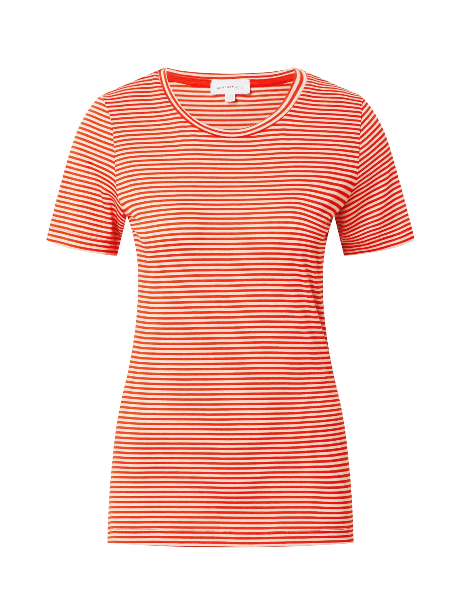 ARMEDANGELS Tričko 'LIDIAA'  bílá / oranžově červená