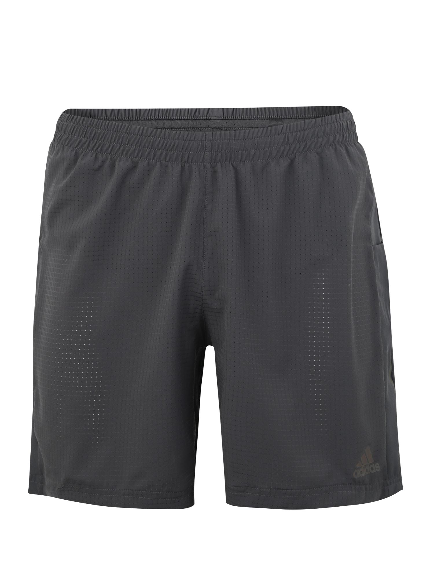 ADIDAS PERFORMANCE Sportinės kelnės 'SUPERNOVA SHORT' tamsiai pilka