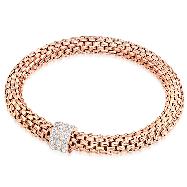 Armbaender - Silberarmband mit Glaskristall › Rafaela Donata › rosegold silber  - Onlineshop ABOUT YOU