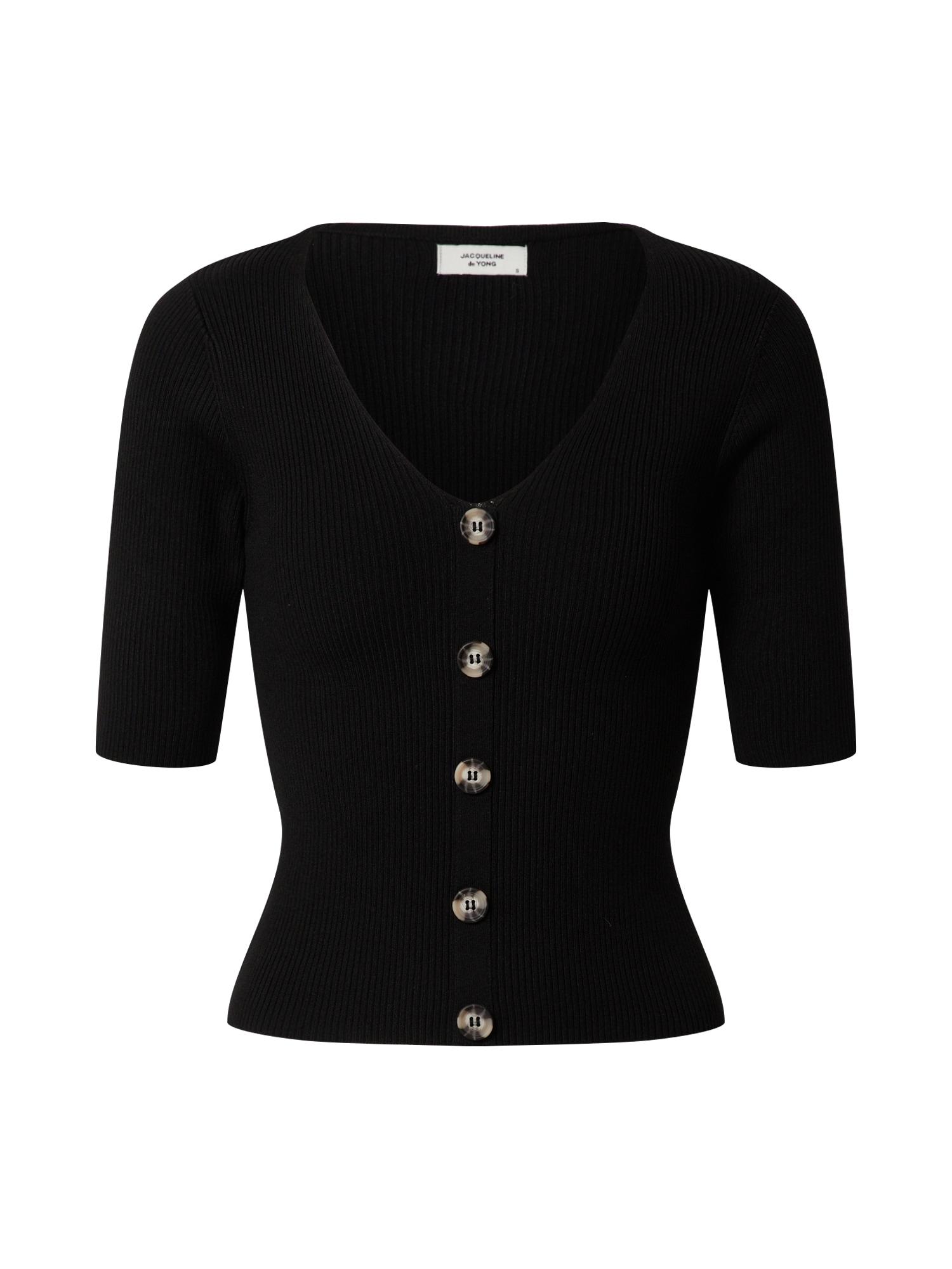 JACQUELINE de YONG Megztinis 'JDYYUMMY S/S PULLOVER KNT' juoda