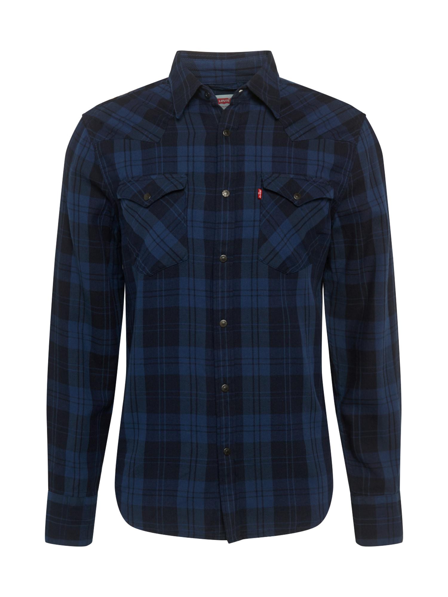 LEVI'S Dalykiniai marškiniai 'BARSTOW WESTERN' tamsiai mėlyna