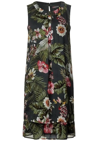 Kleider für Frauen - STREET ONE Kleid grün mischfarben  - Onlineshop ABOUT YOU