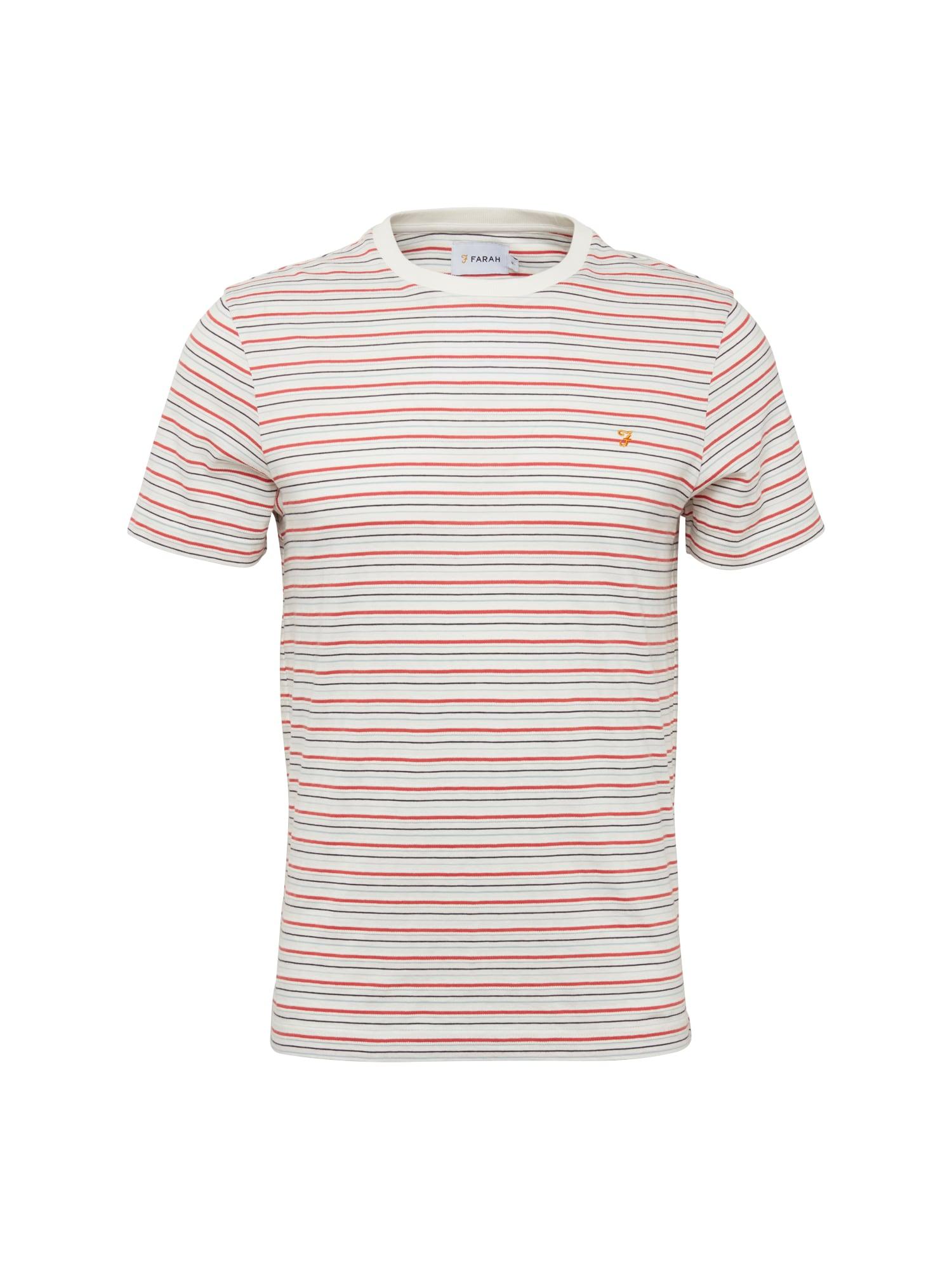 Tričko FAWKES světlemodrá červená bílá FARAH