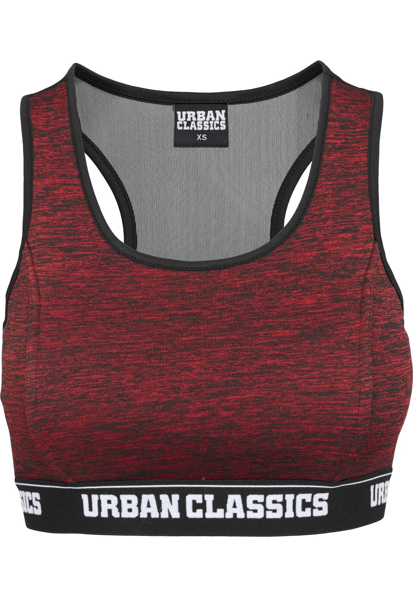 Urban Classics Podprsenka 'Active'  černá / tmavě červená