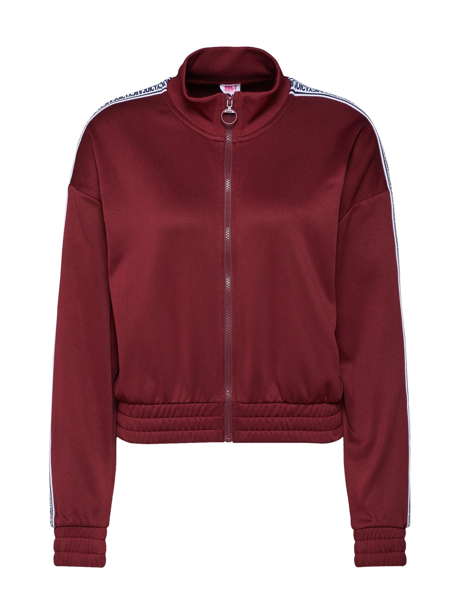 Mikina s kapucí tmavě červená Juicy By Juicy Couture
