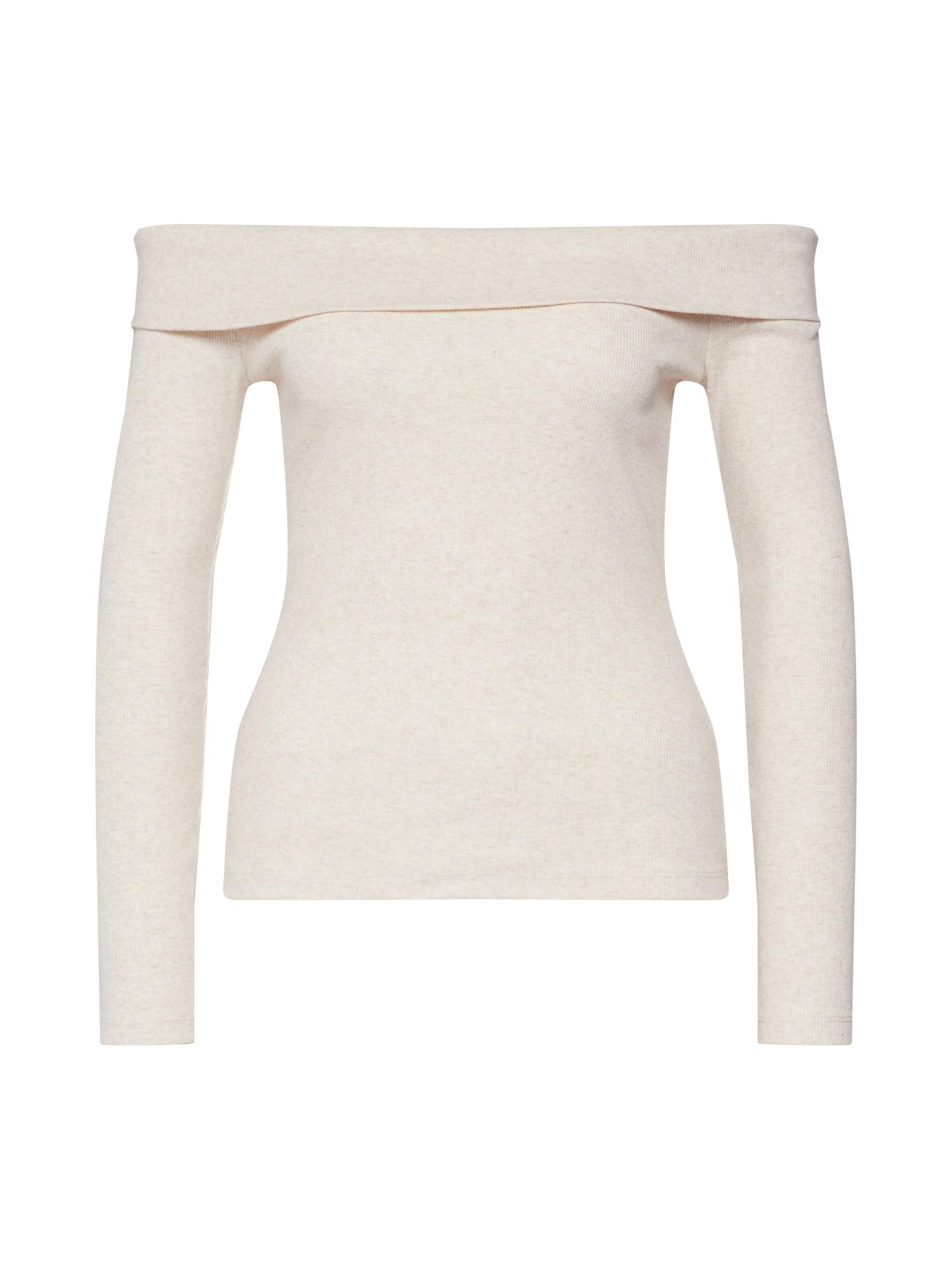 ABOUT YOU Marškinėliai 'Charlotta' smėlio / kremo / balkšva