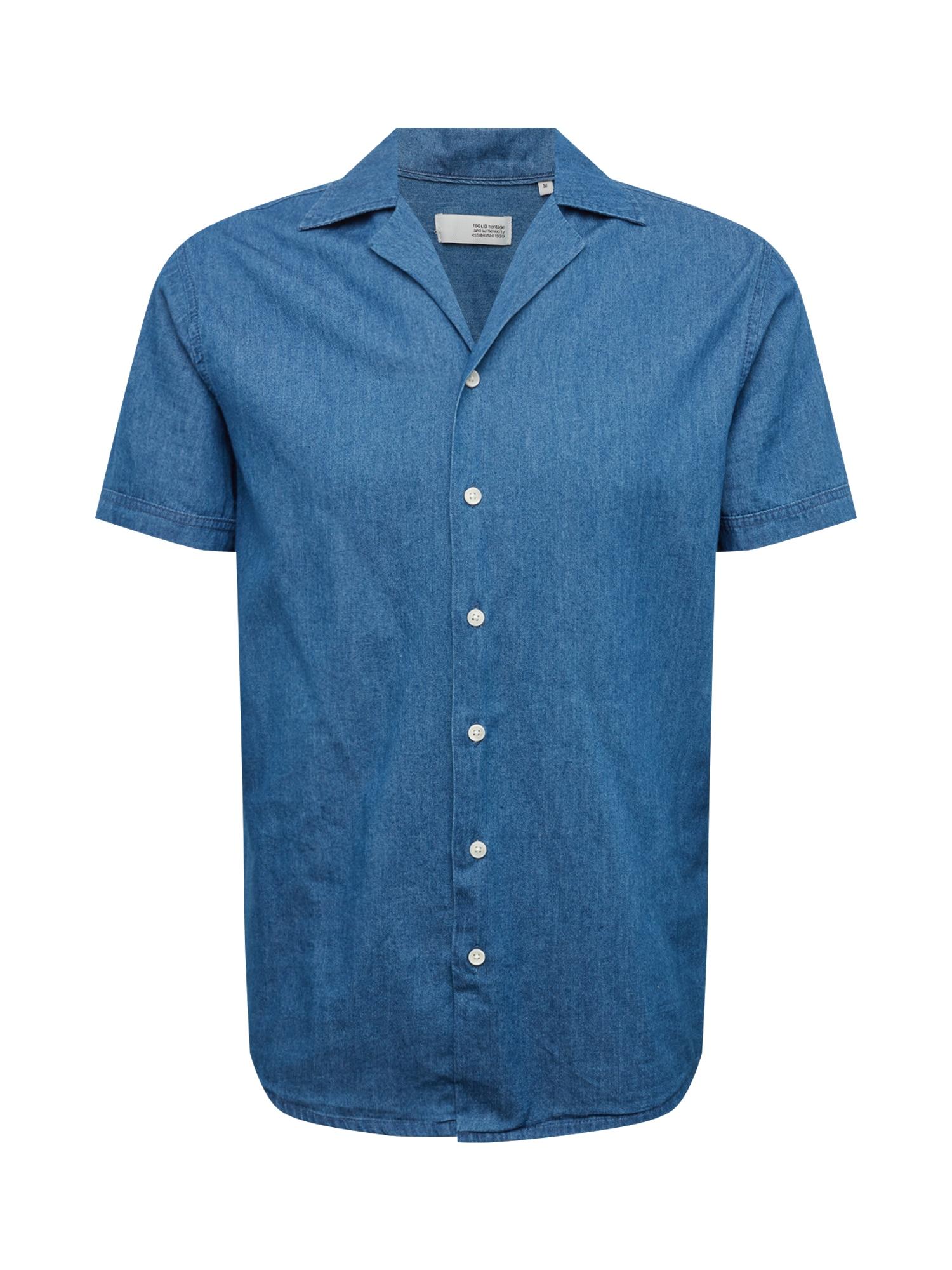 Košile modrá !Solid