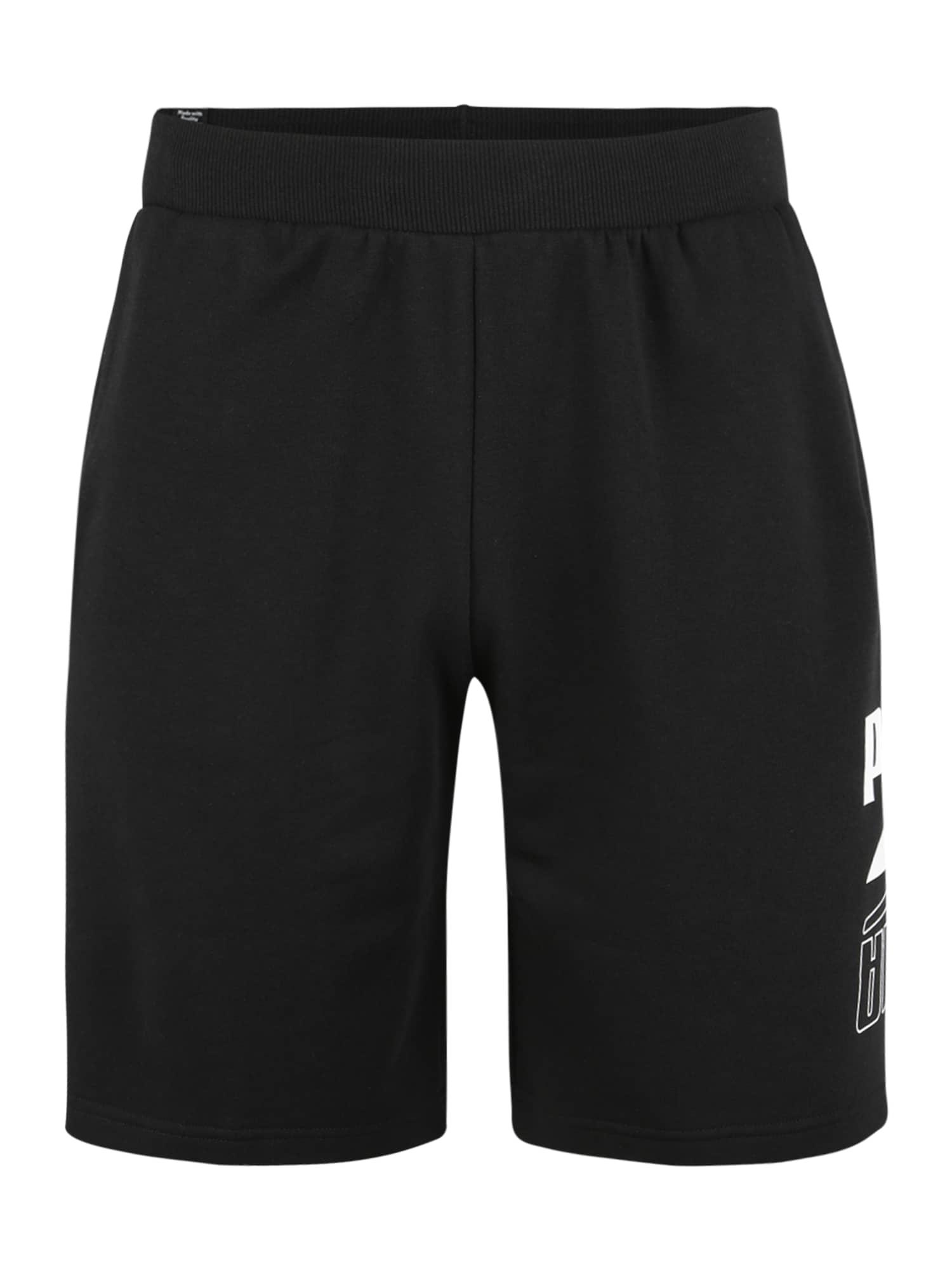 PUMA Sportinės kelnės sidabro pilka / juoda