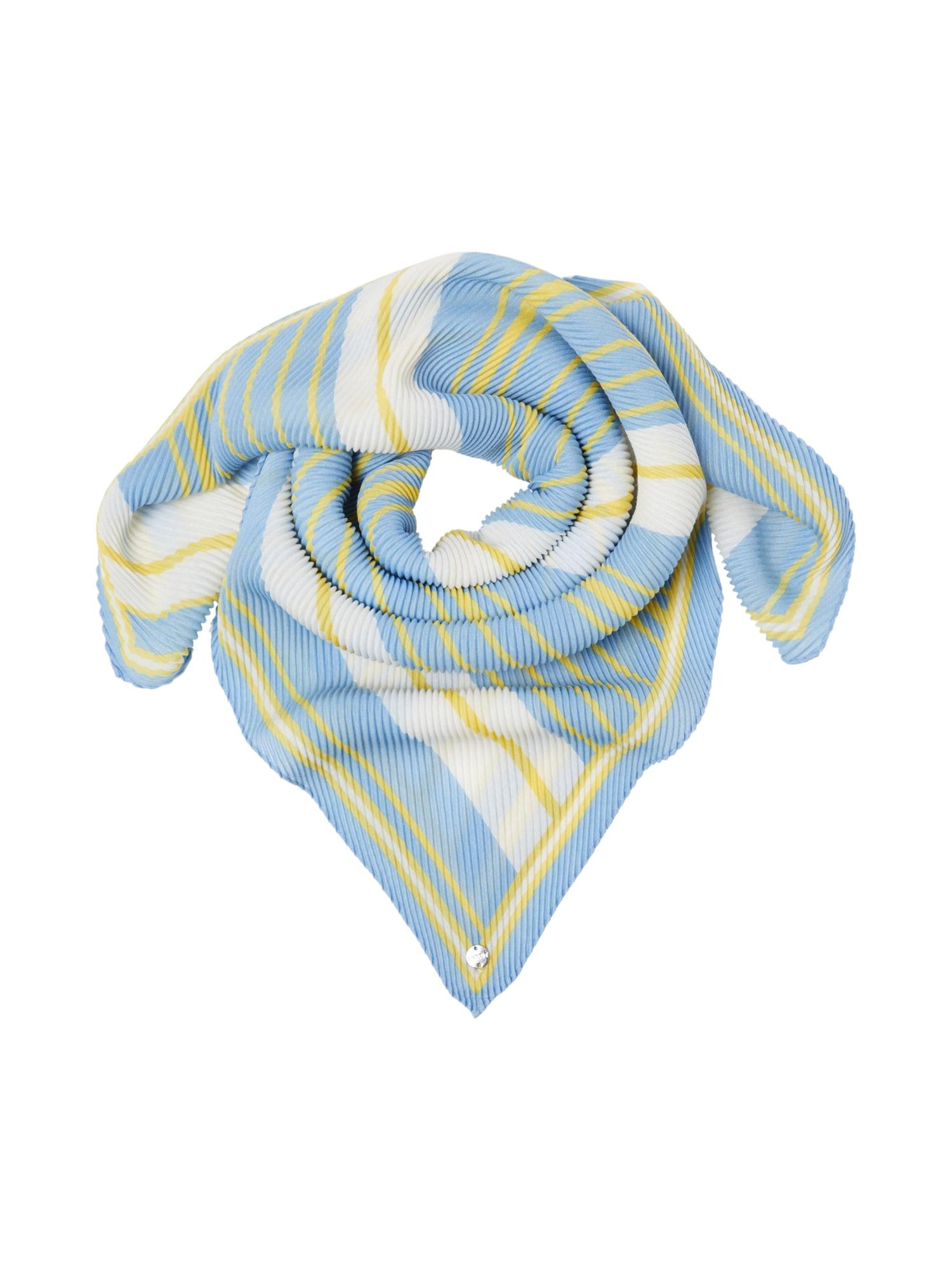 ESPRIT Skara 'Plisseesqua' balta / šviesiai mėlyna / geltona