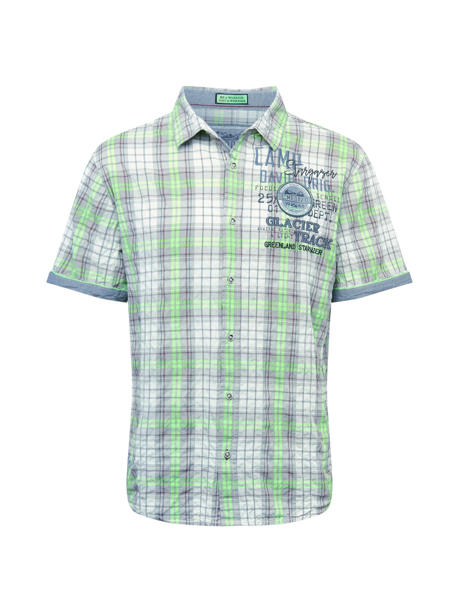 CAMP DAVID Marškiniai balta / kivių spalva / mėlyna