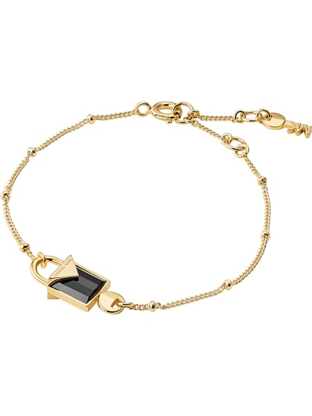 Armbaender für Frauen - Michael Kors Armband 'MKC1041AM710' gold schwarz  - Onlineshop ABOUT YOU