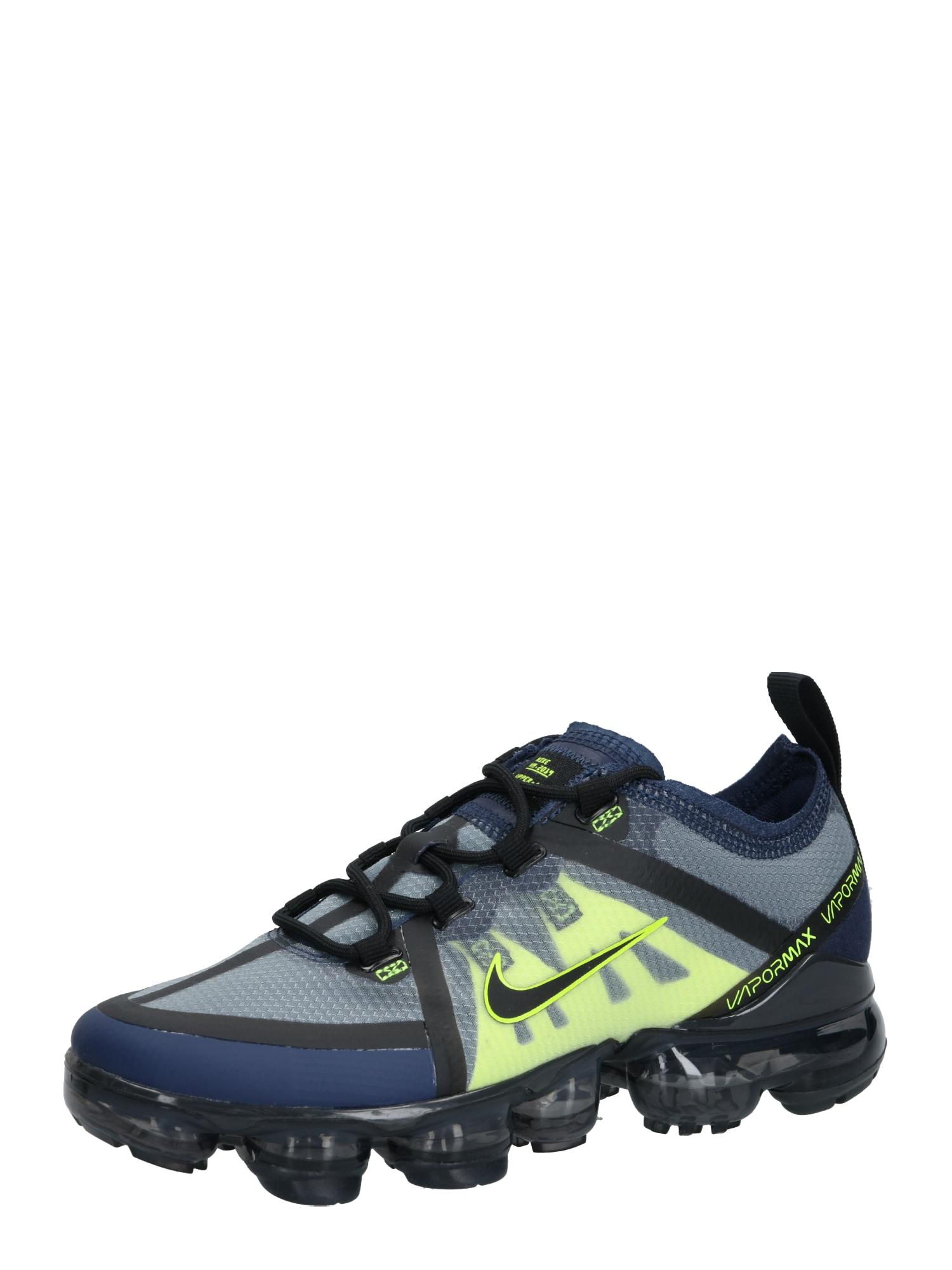 Nike Sportswear Sportbačiai 'Air Vapor Max' juoda / geltona / tamsiai mėlyna