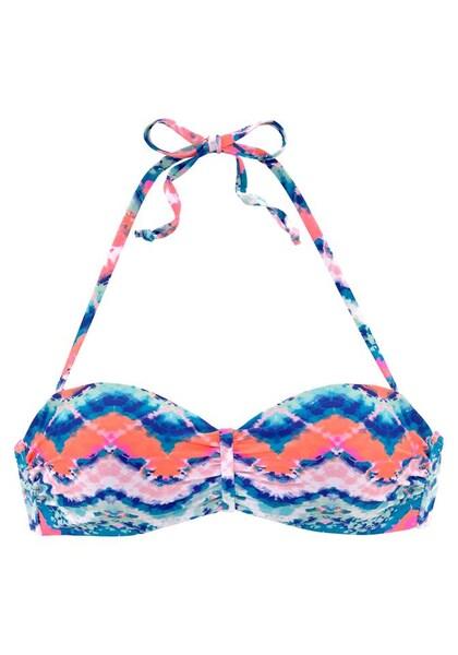 Bademode - Venice Beach Bandeau Bikini Top › VENICE BEACH › pink blau rot  - Onlineshop ABOUT YOU