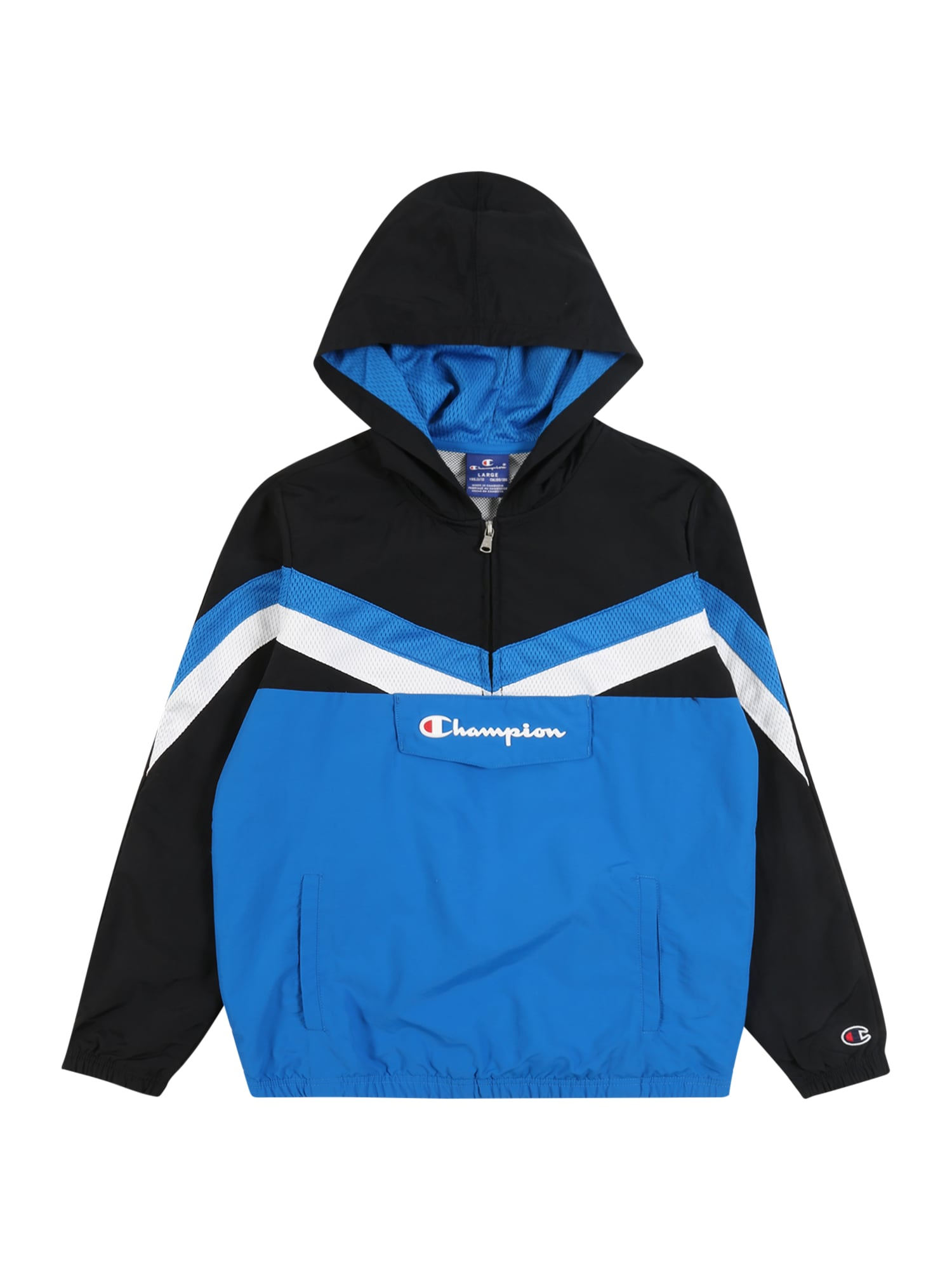 Champion Authentic Athletic Apparel Megztinis mėlyna / juoda