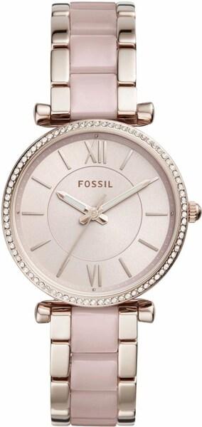 Uhren für Frauen - FOSSIL Quarzuhr 'CARLIE, ES4346' gold pink  - Onlineshop ABOUT YOU