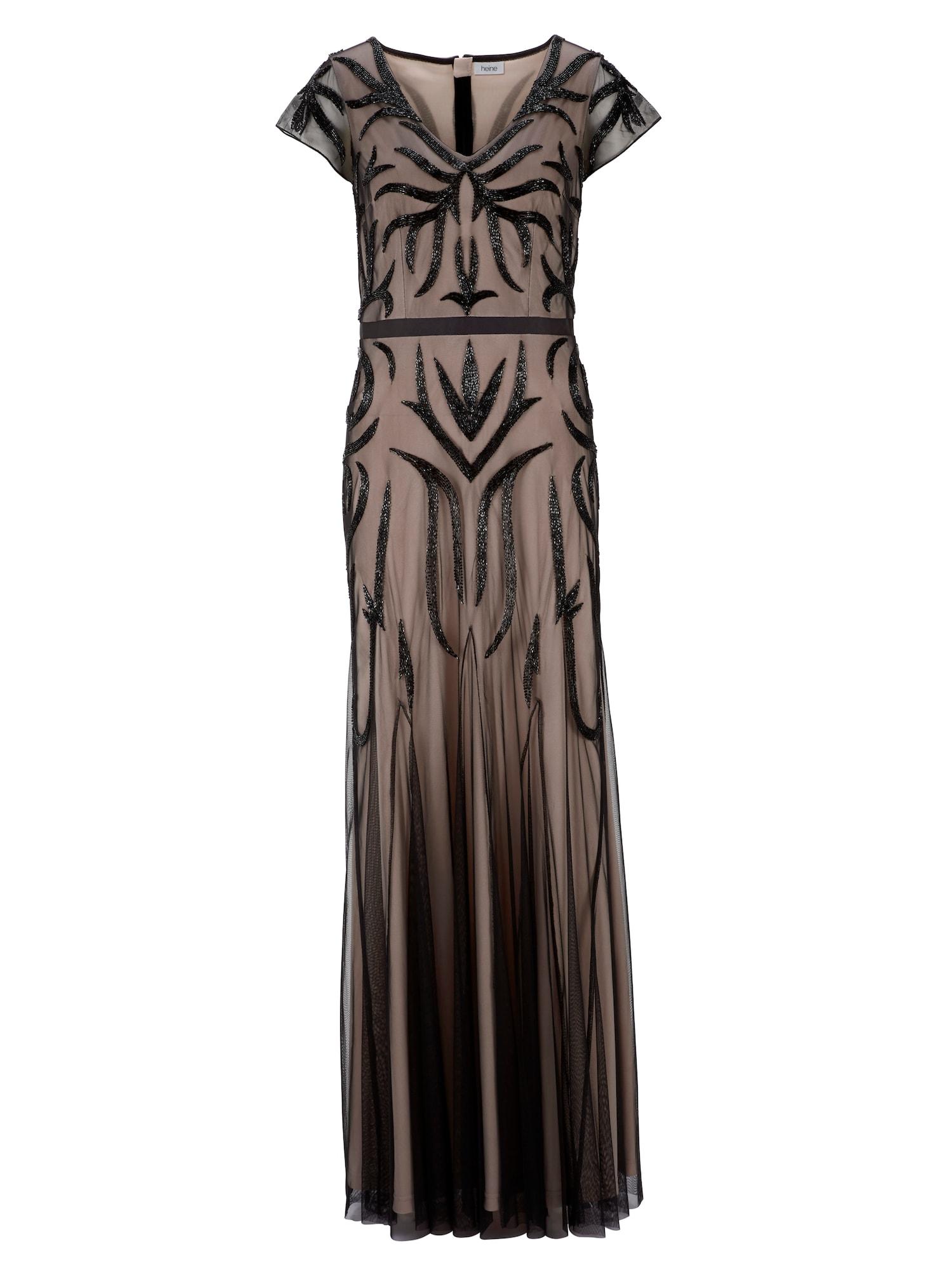 Společenské šaty béžová černá Heine