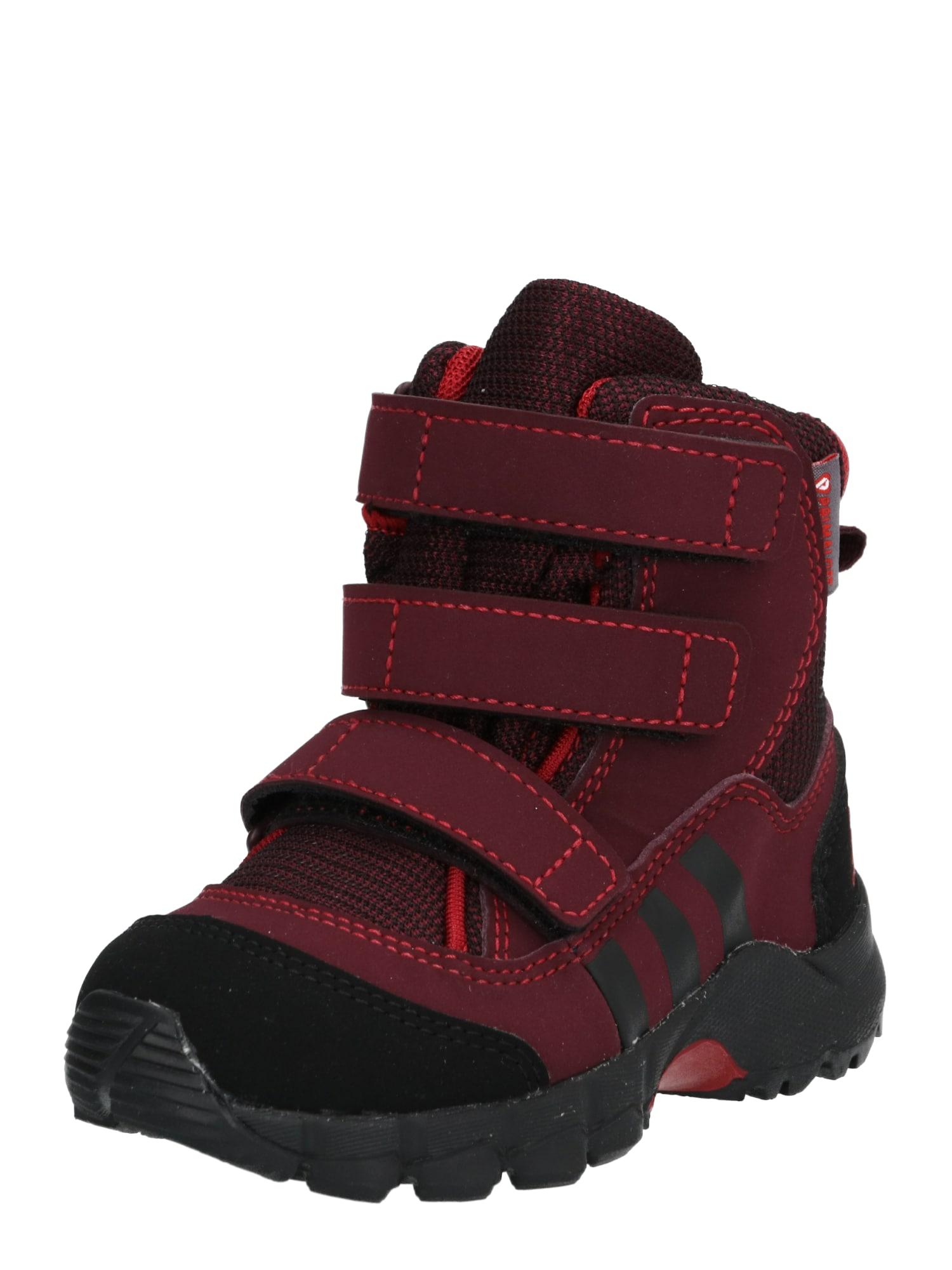 ADIDAS PERFORMANCE Sportiniai batai 'Holtanna Snow' tamsiai raudona / juoda