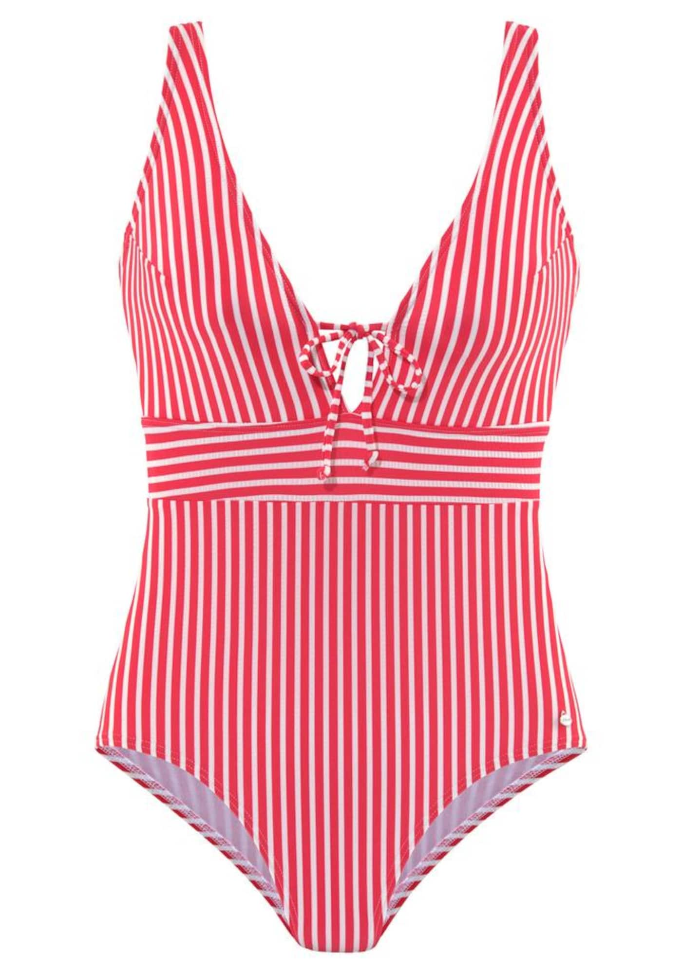 s.Oliver Jednodielne plavky  biela / červené