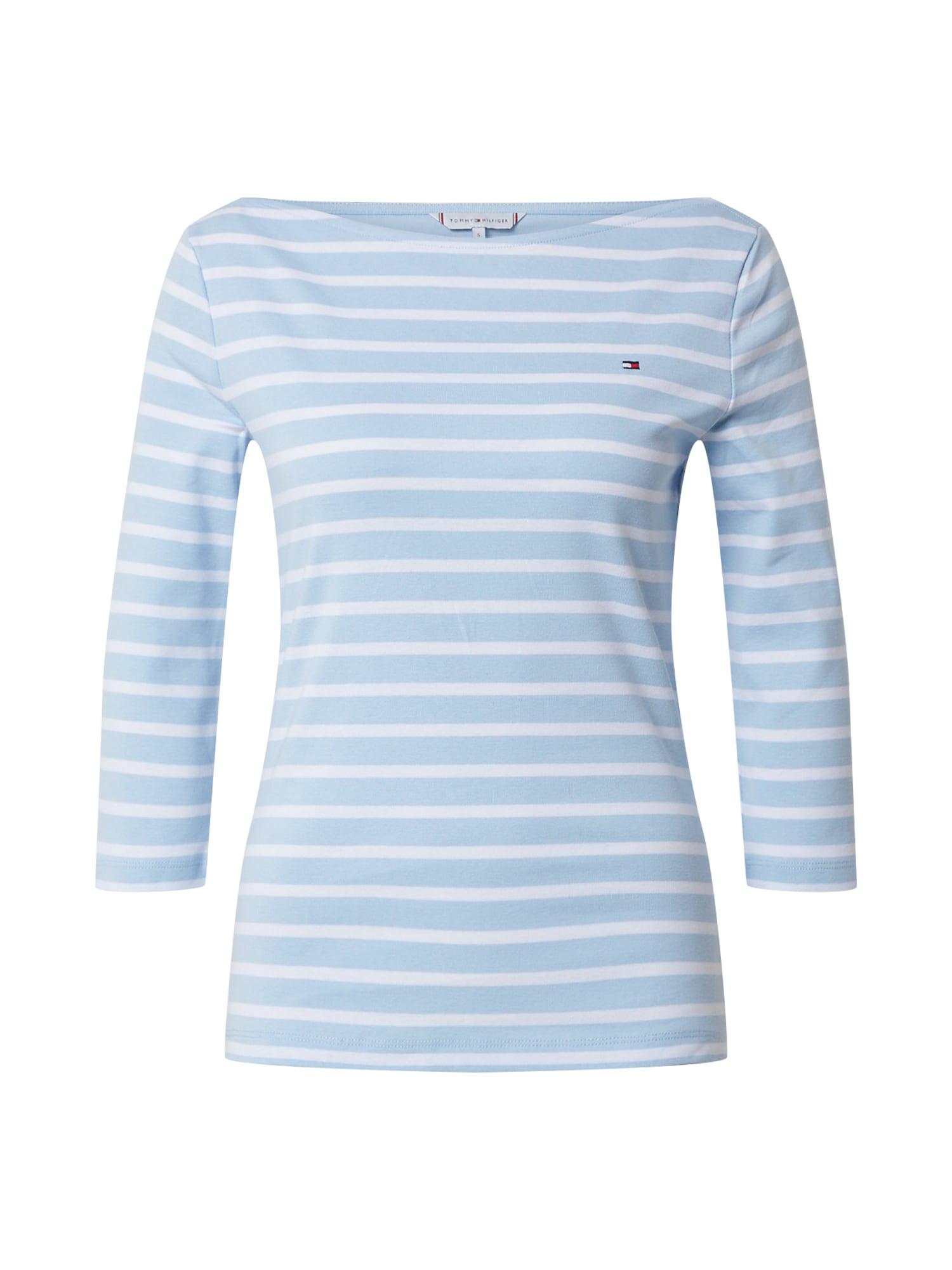 TOMMY HILFIGER Marškinėliai 'AISHA' balta / mėlyna