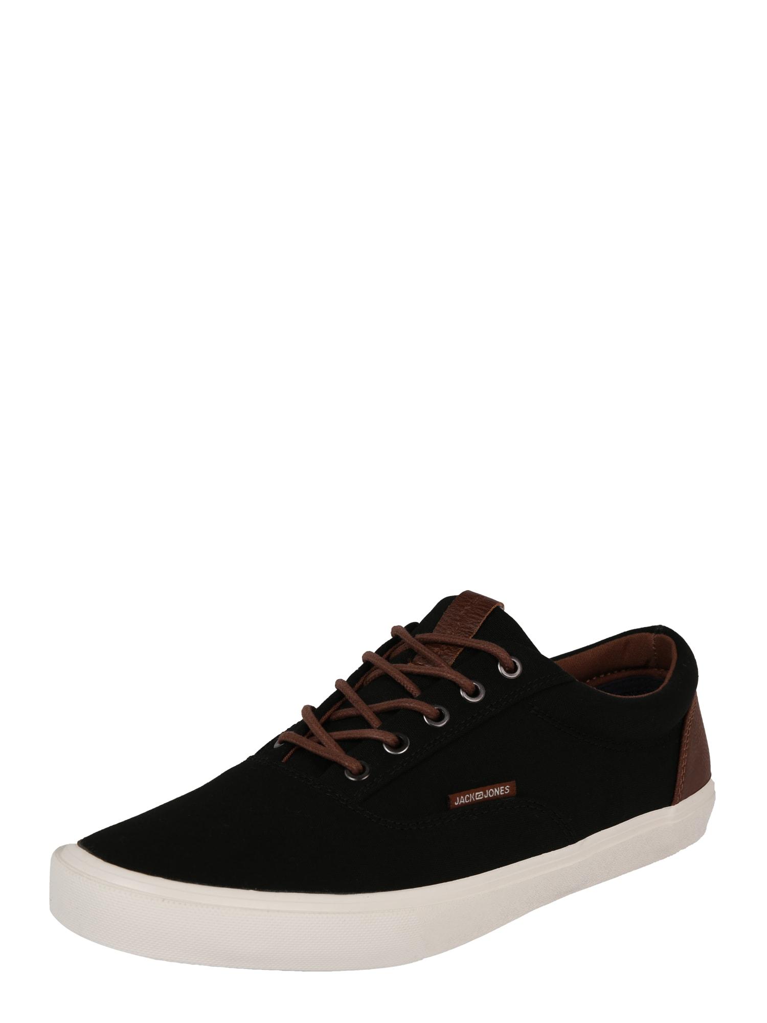 JACK & JONES Rövid szárú edzőcipők 'VISION CLASSIC MIXED'  fehér / barna / fekete