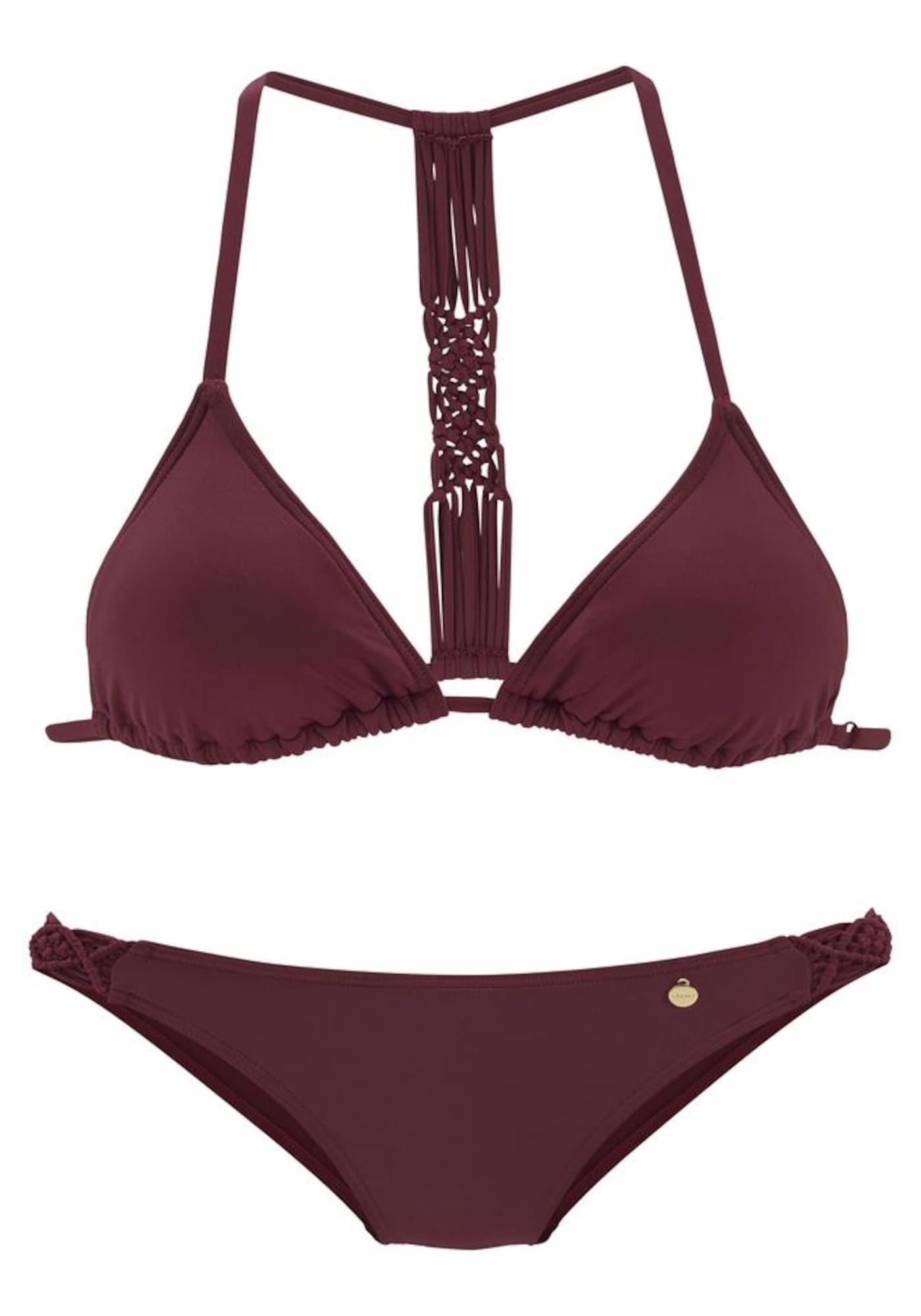 LASCANA Bikinis vyšninė spalva