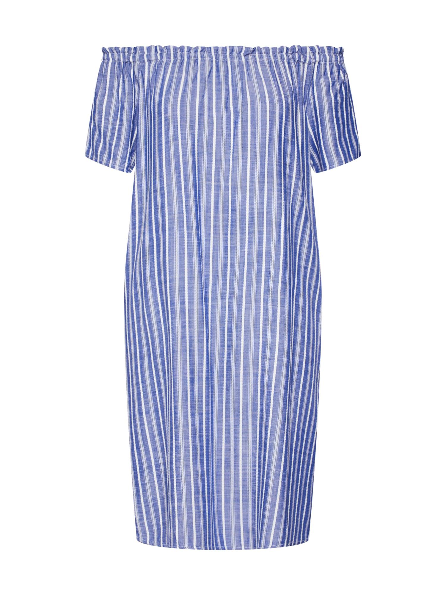 Letní šaty EOS yarn dyed striped Carmen D modrá STREET ONE