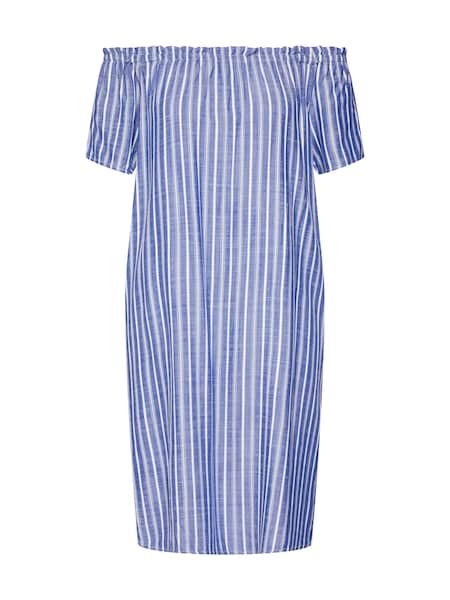 Kleider für Frauen - Kleid 'EOS yarn dyed striped Carmen D' › STREET ONE › blau  - Onlineshop ABOUT YOU
