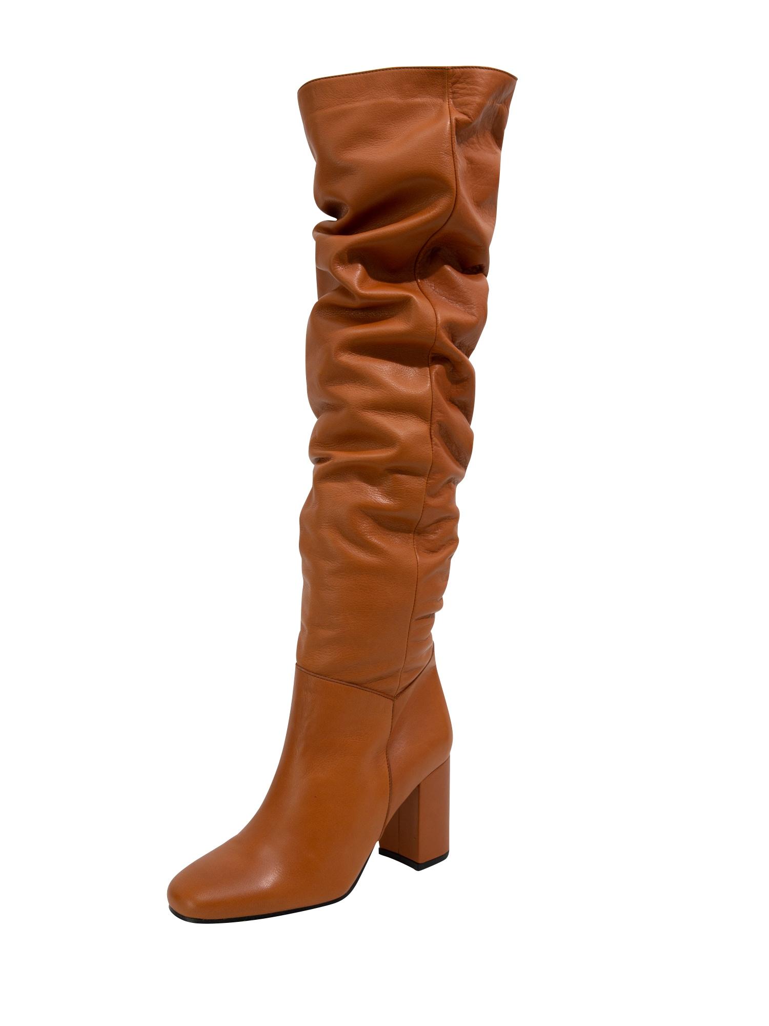 EDITED Ilgaauliai batai virš kelių 'Martje' ruda (konjako) / ruda