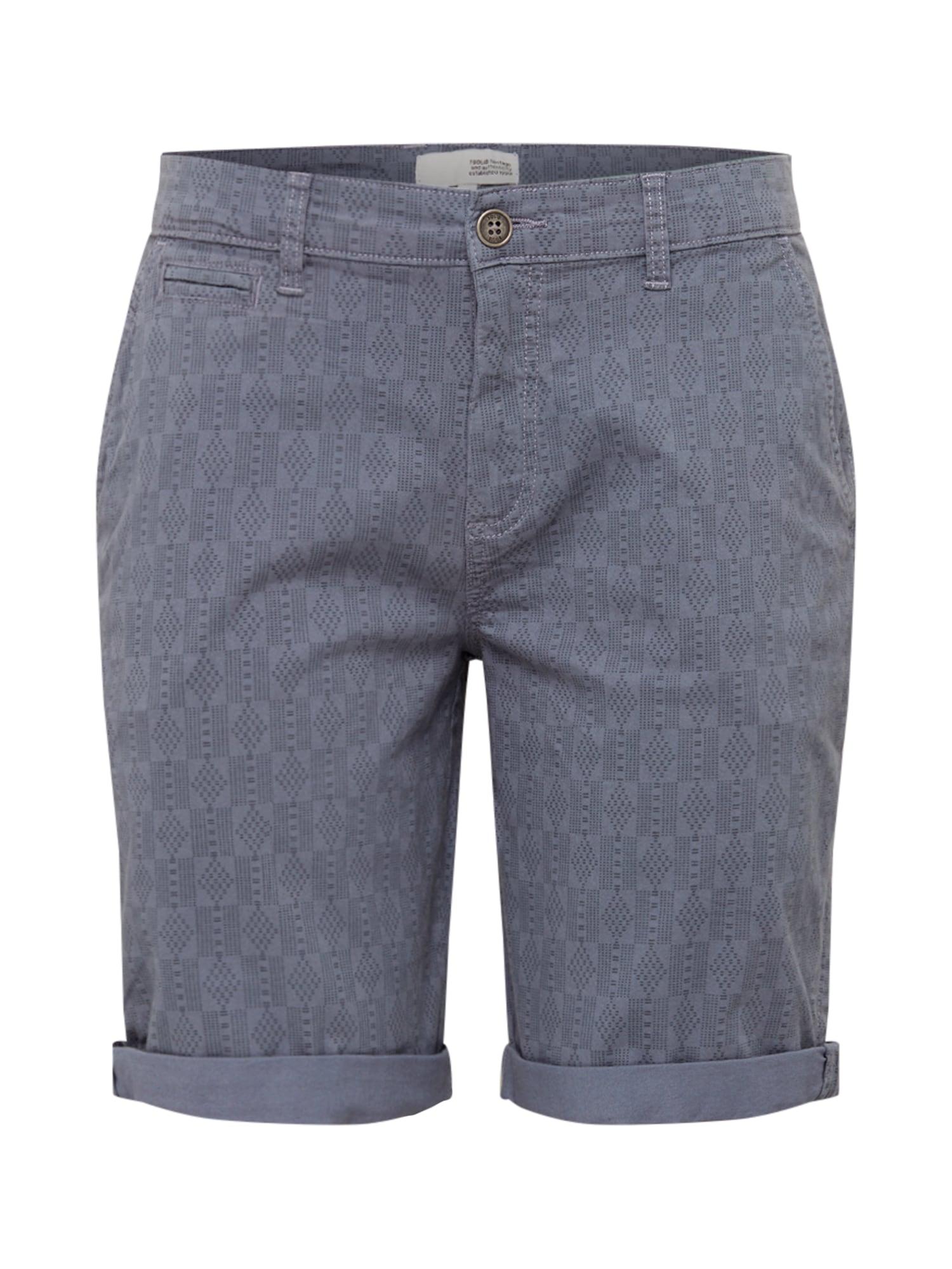 Chino kalhoty Regular-Gabi kouřově modrá !Solid