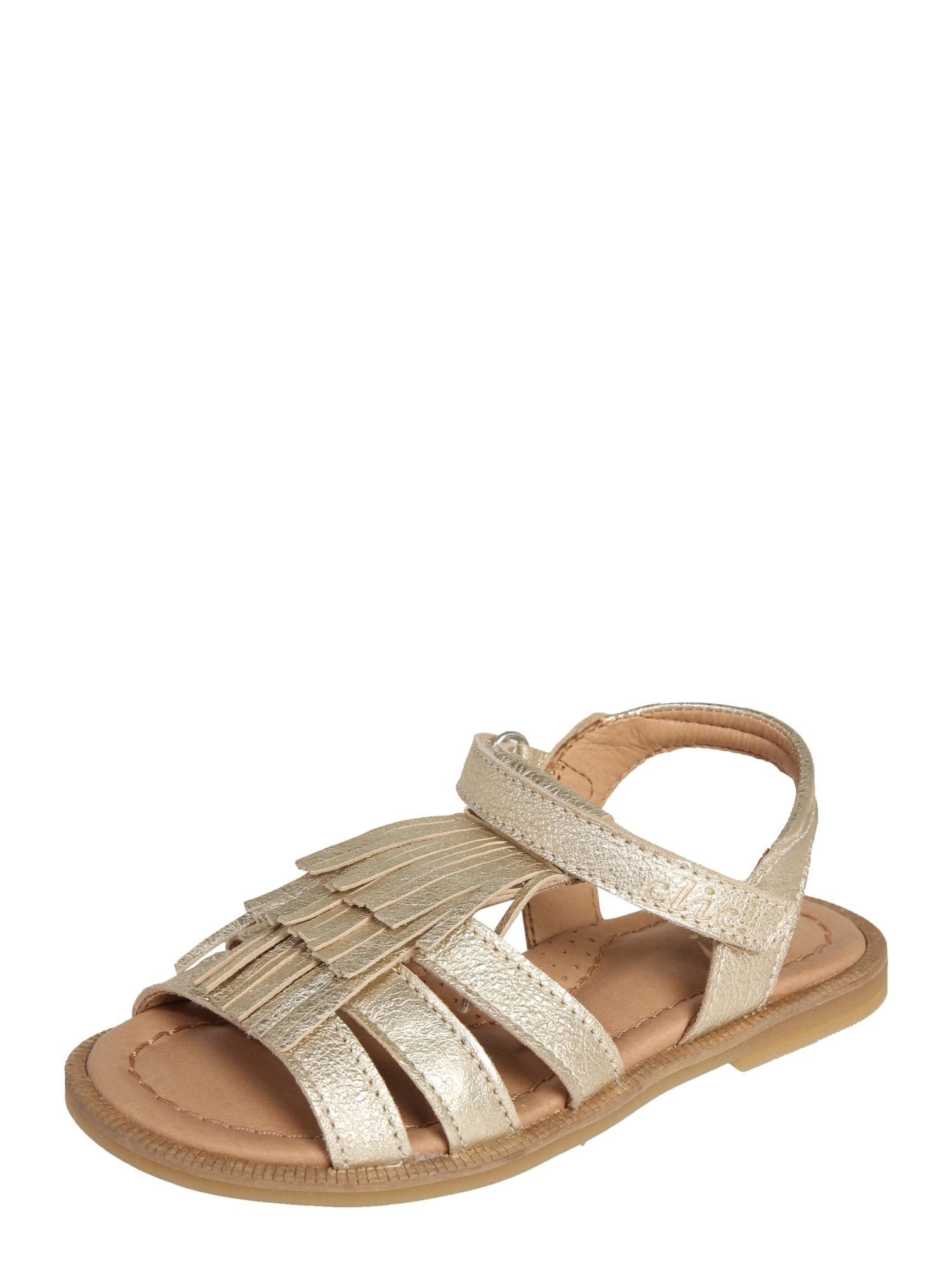 Sandály zlatá Clic