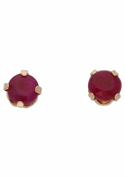 Ohrringe für Frauen - FIRETTI Paar Ohrstecker gold rubinrot  - Onlineshop ABOUT YOU