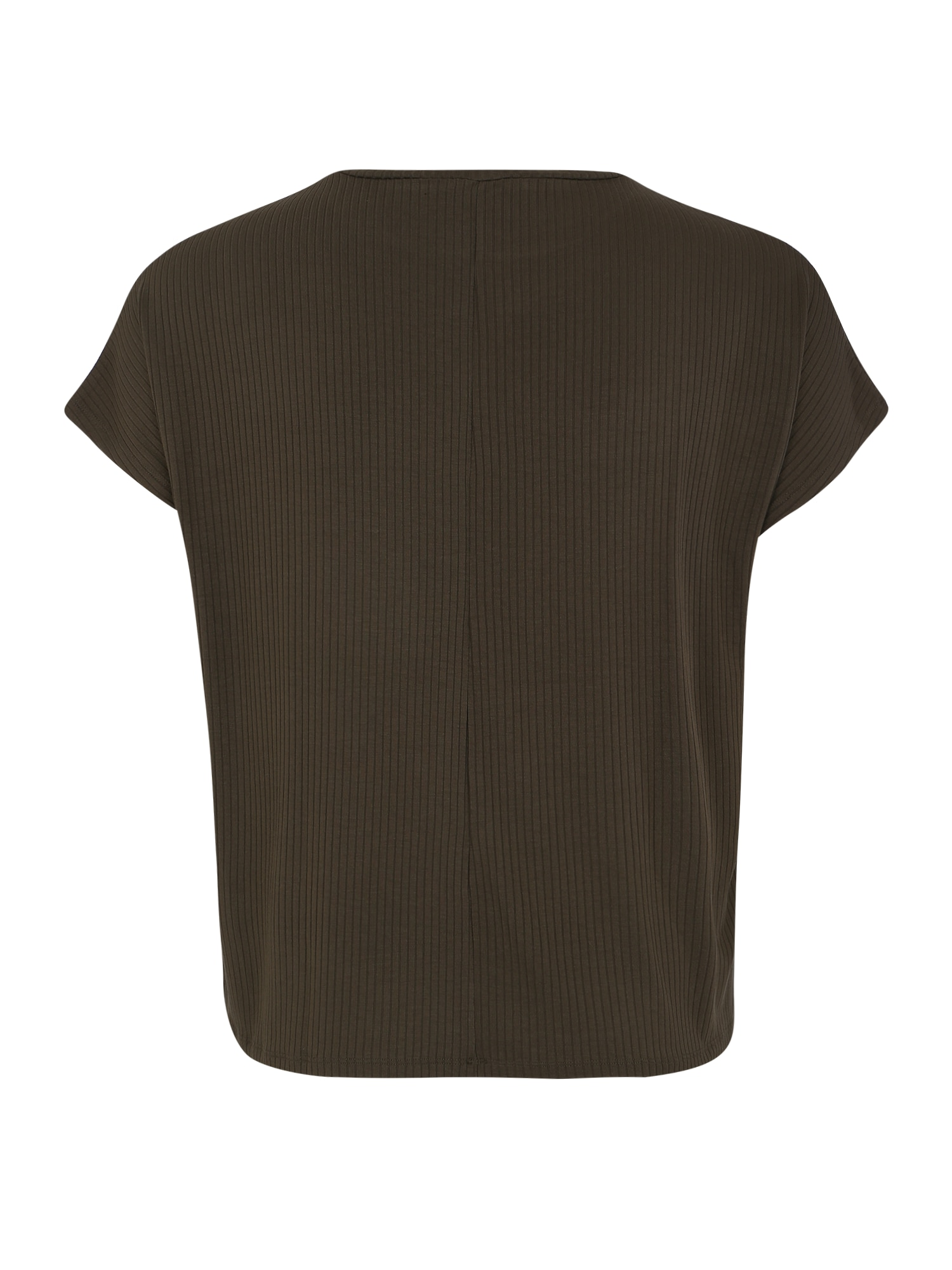 ABOUT YOU Curvy T-shirt 'Cora'  khaki / mörkgrön