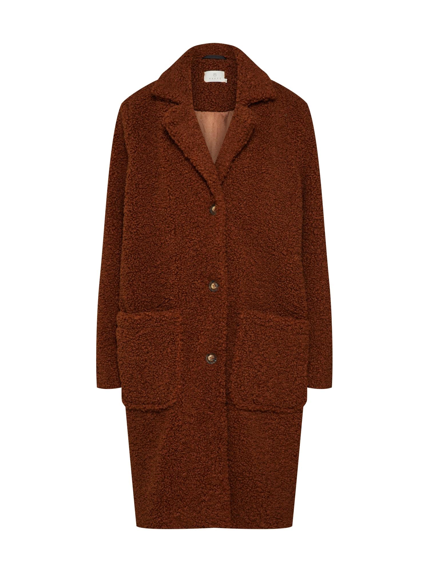 Kaffe Zimný kabát 'Balma Teddy'  hnedá