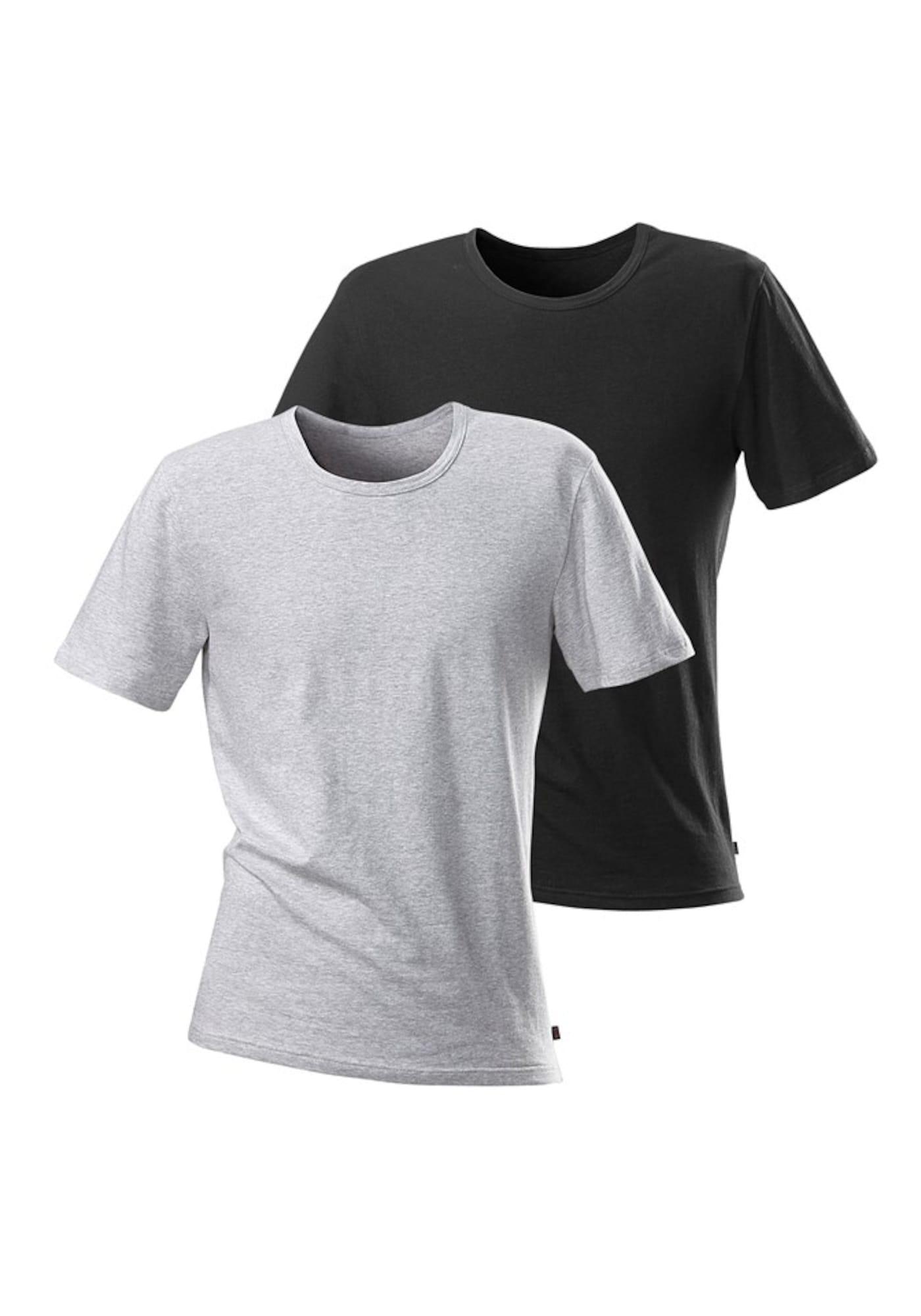 H.I.S Marškinėliai juoda / pilka
