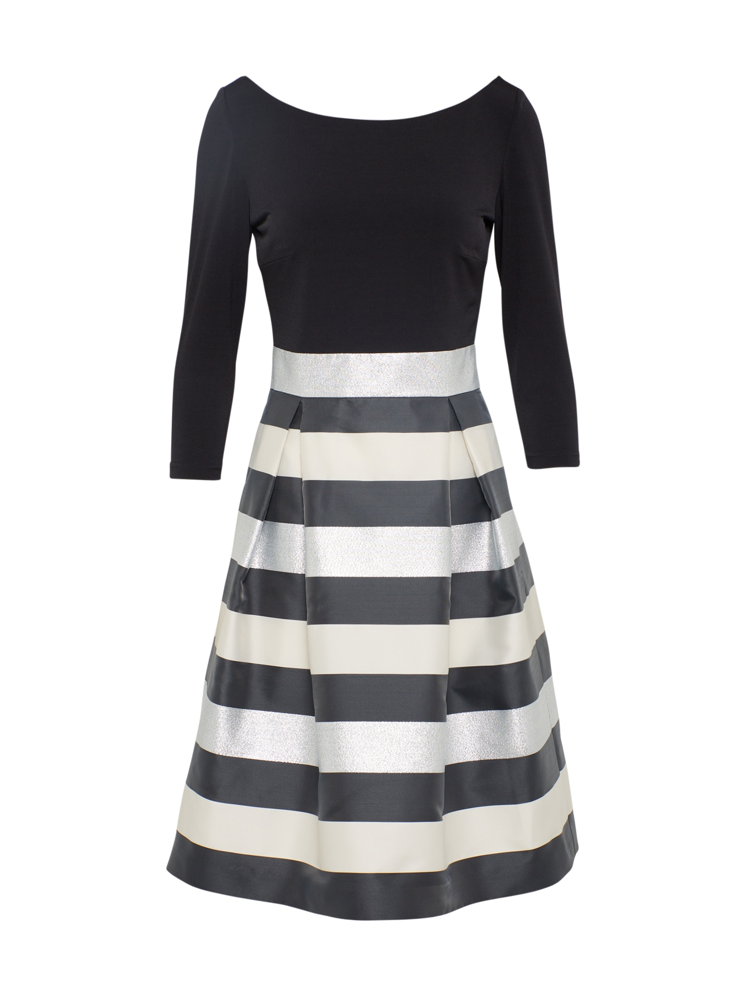 Koktejlové šaty černá stříbrná SWING