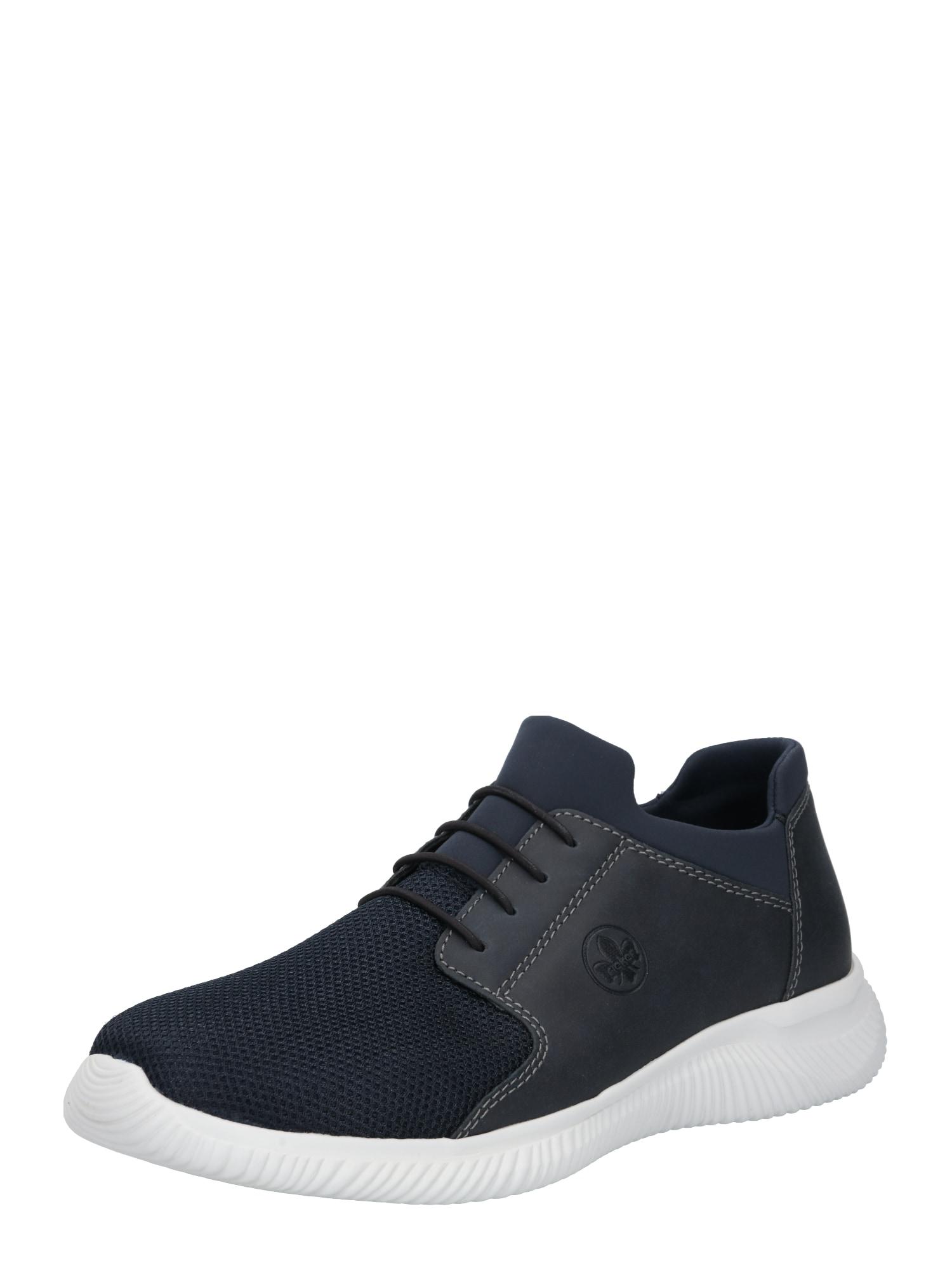 RIEKER Sportovní šněrovací boty  bílá / tmavě modrá