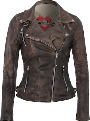 FREAKY NATION Bikerjacke aus Leder 'Real Love'