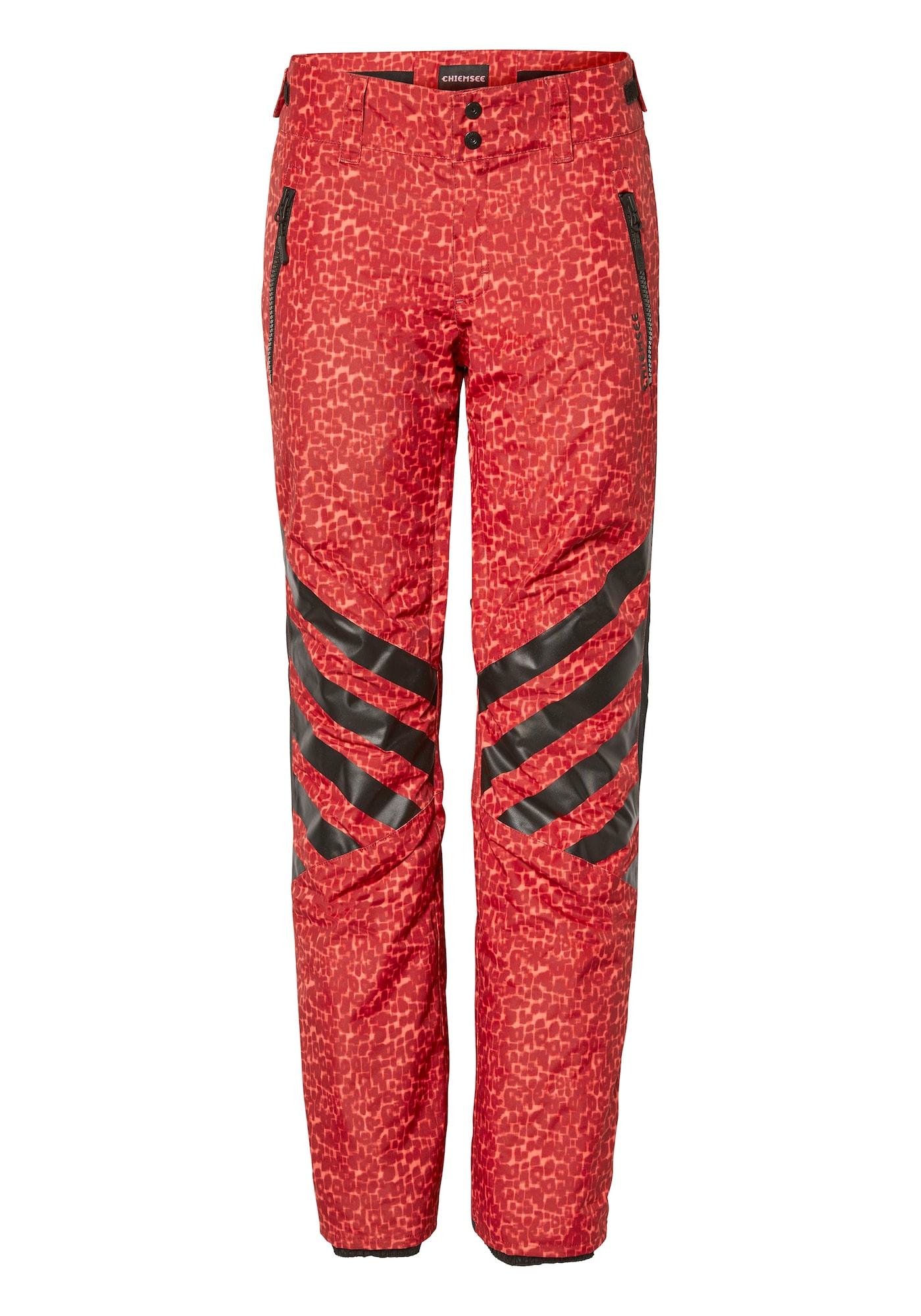 CHIEMSEE Sportinės kelnės juoda / raudona