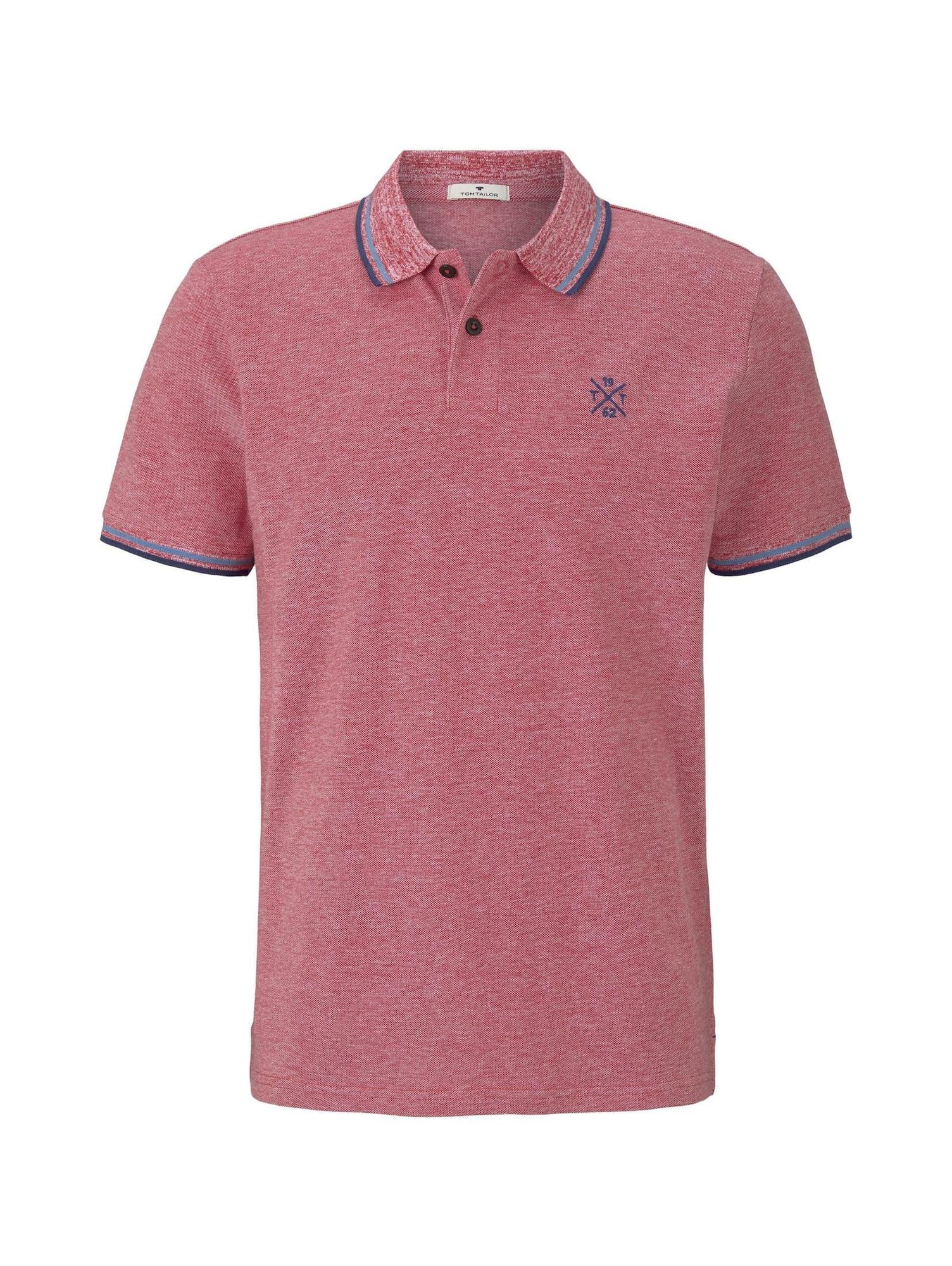 TOM TAILOR Tričko  modré / pastelovo červená
