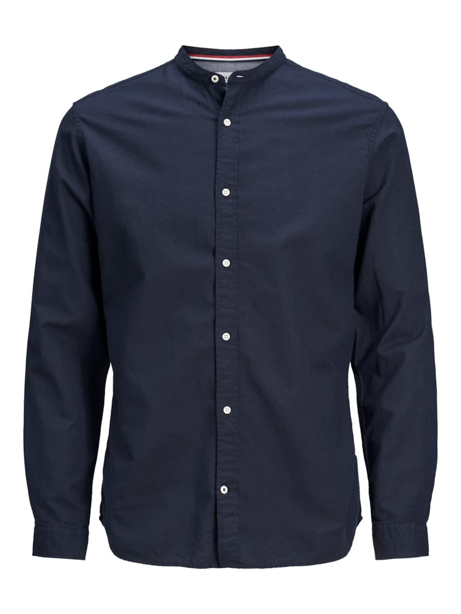 JACK & JONES Marškiniai tamsiai mėlyna