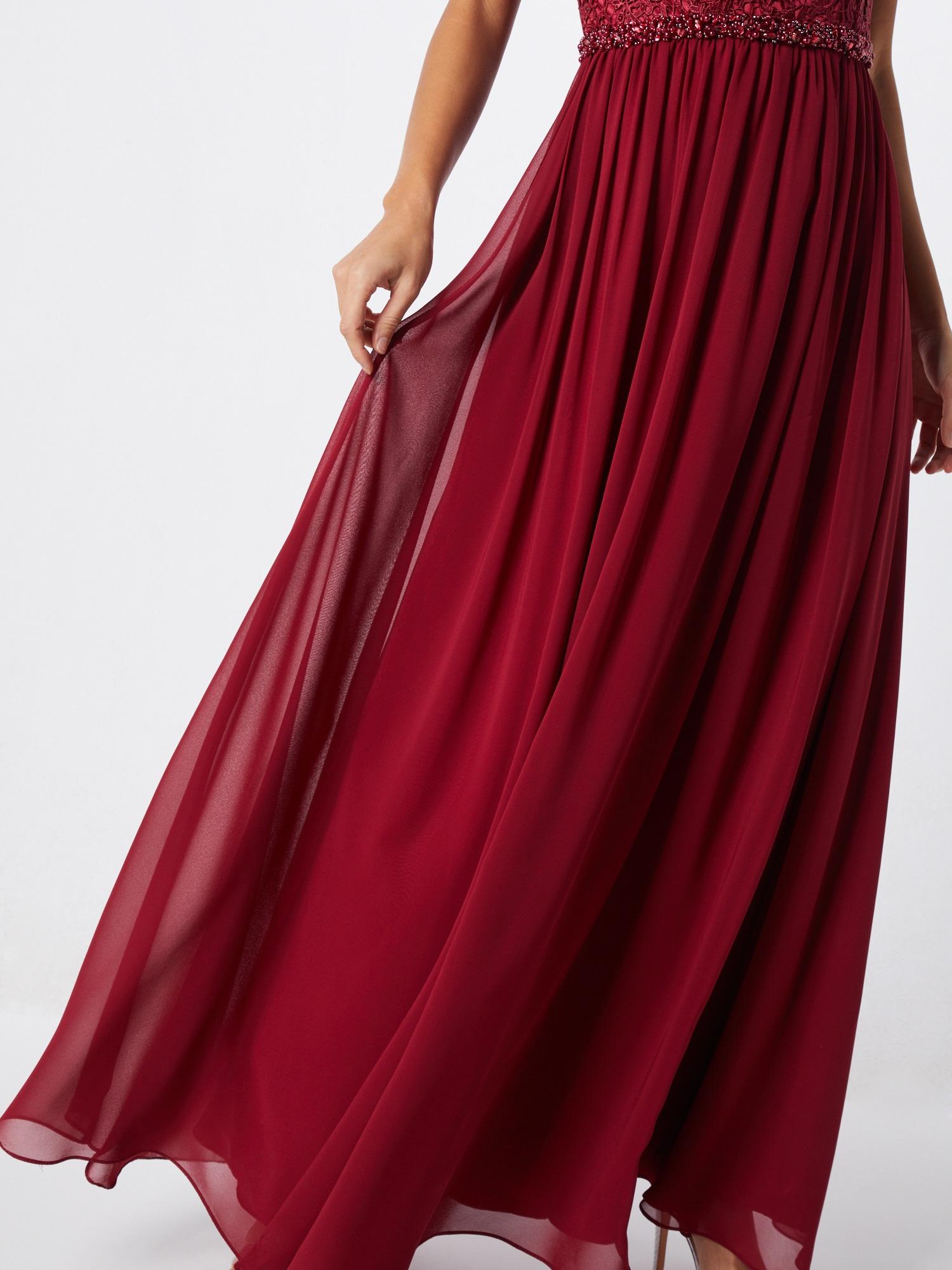mascara Večerné šaty 'LACE TOP'  vínovo červená.