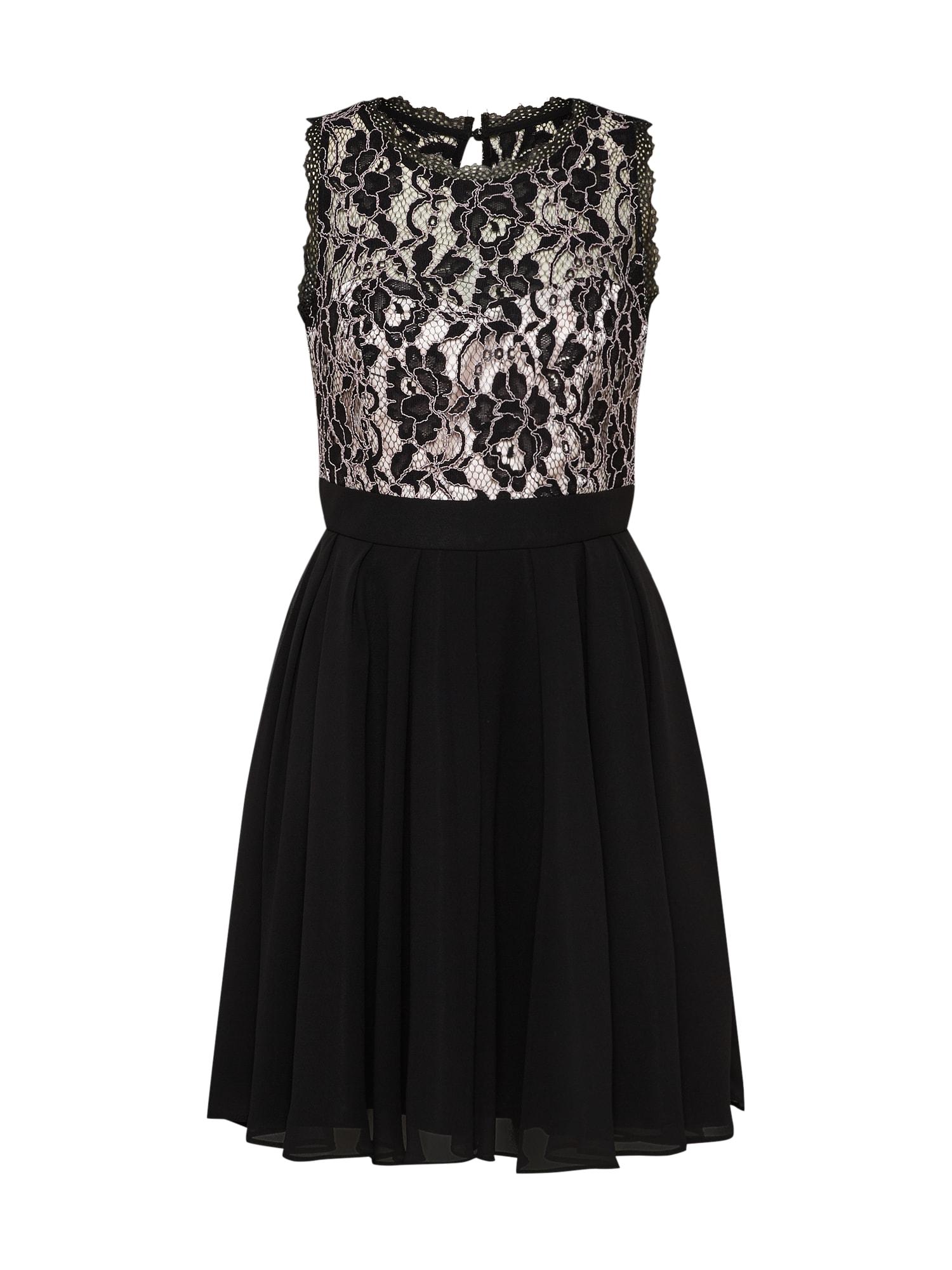 Koktejlové šaty krémová černá VM Vera Mont