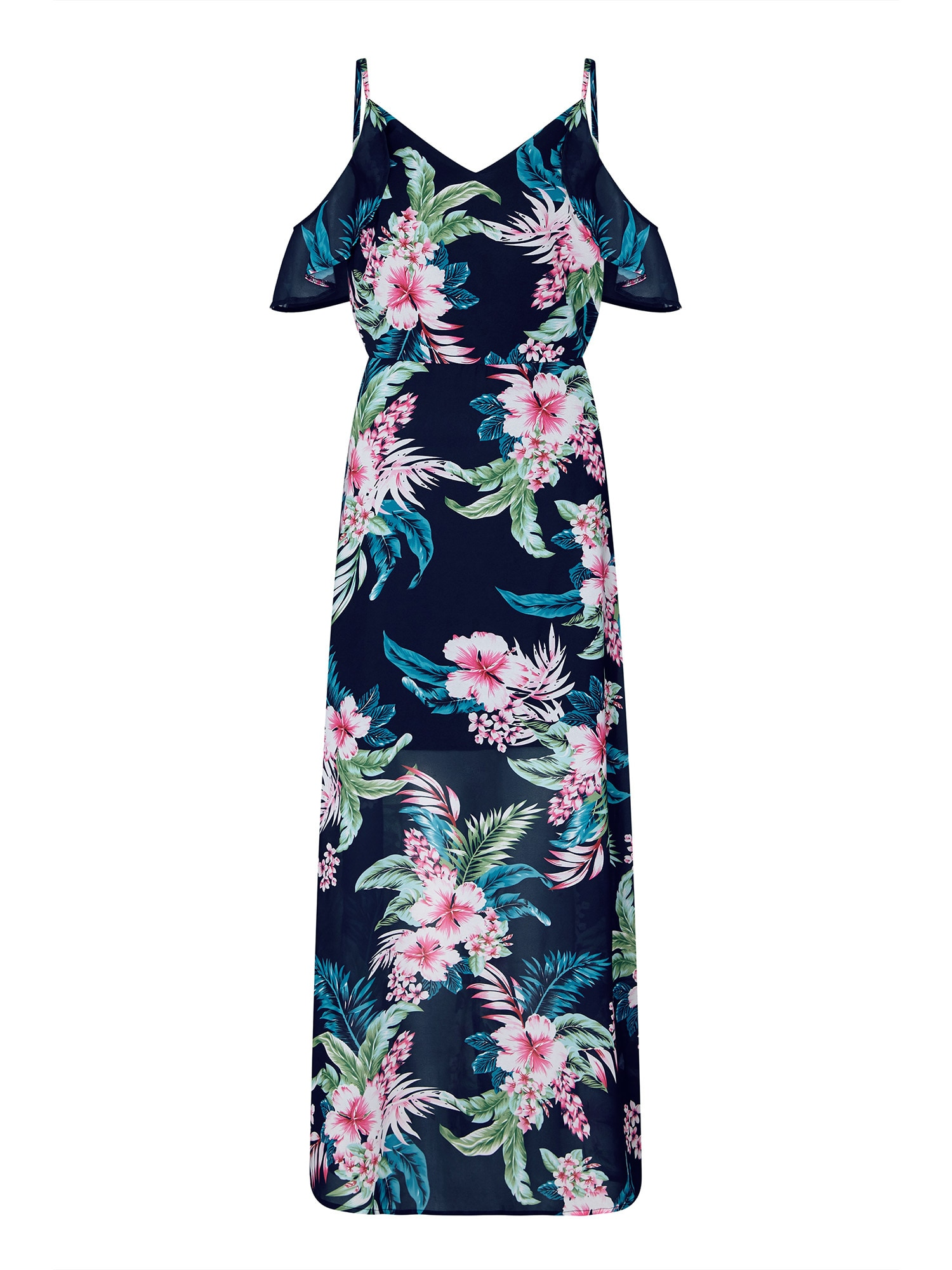 Šaty námořnická modř mix barev růžová Mela London