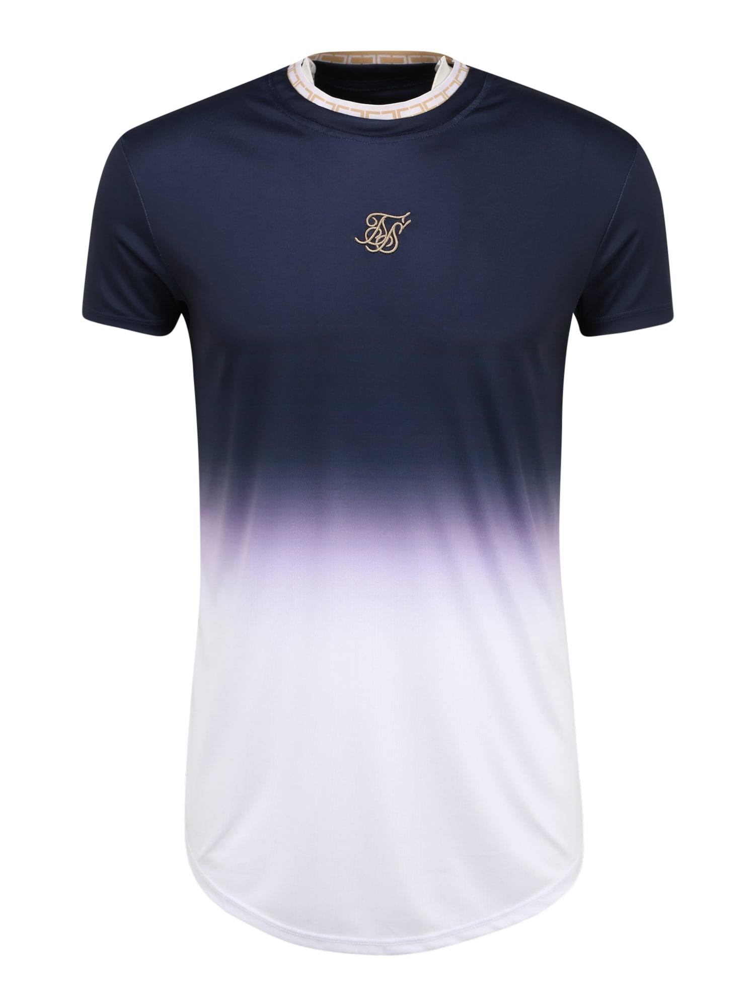 SikSilk Marškinėliai balta / tamsiai mėlyna