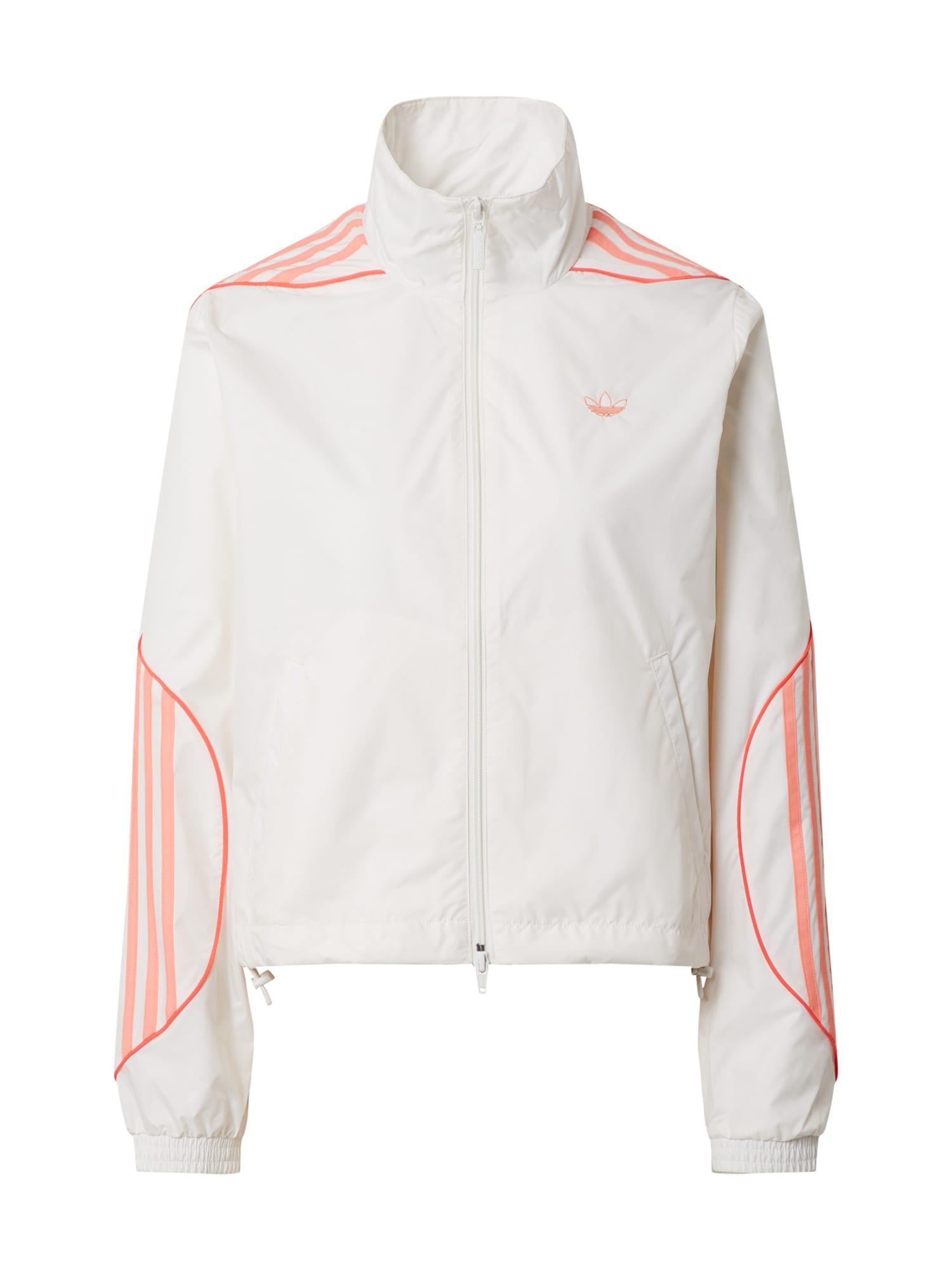 ADIDAS ORIGINALS Prechodná bunda 'Track Top'  biela / ružová